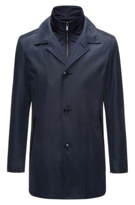 Regular-fit jas van technisch materiaal met uitneembare voering, Donkerblauw