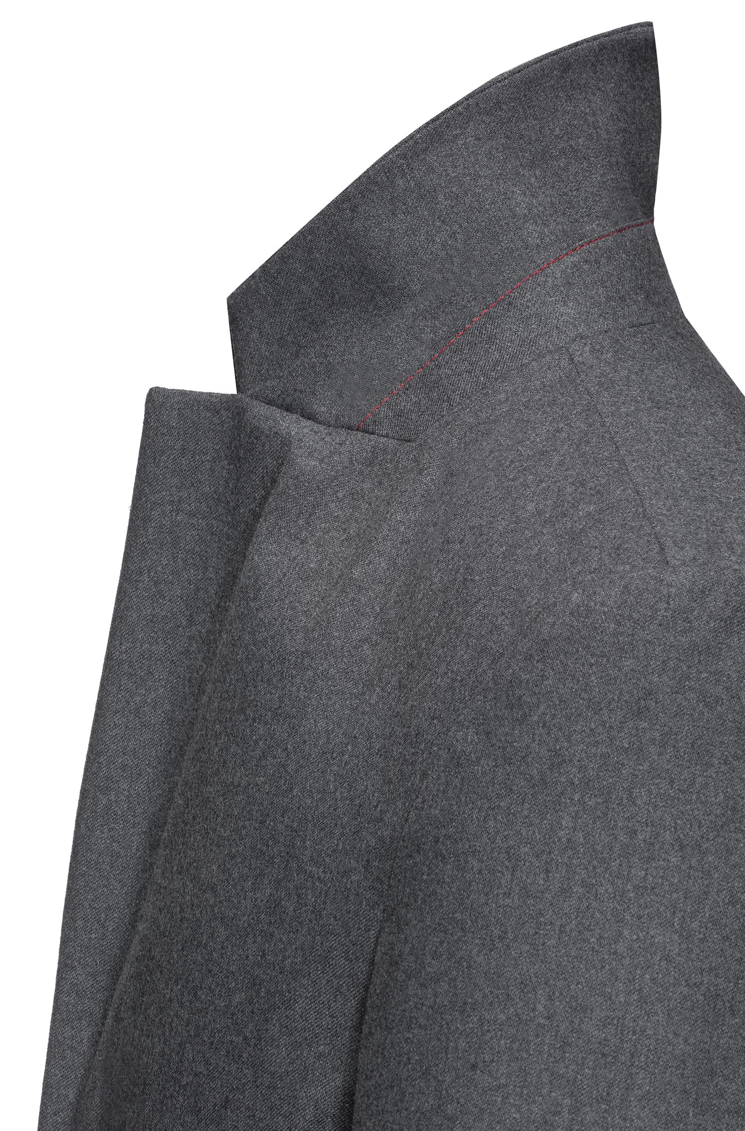 Slim-fit wool-blend coat with zipped pockets