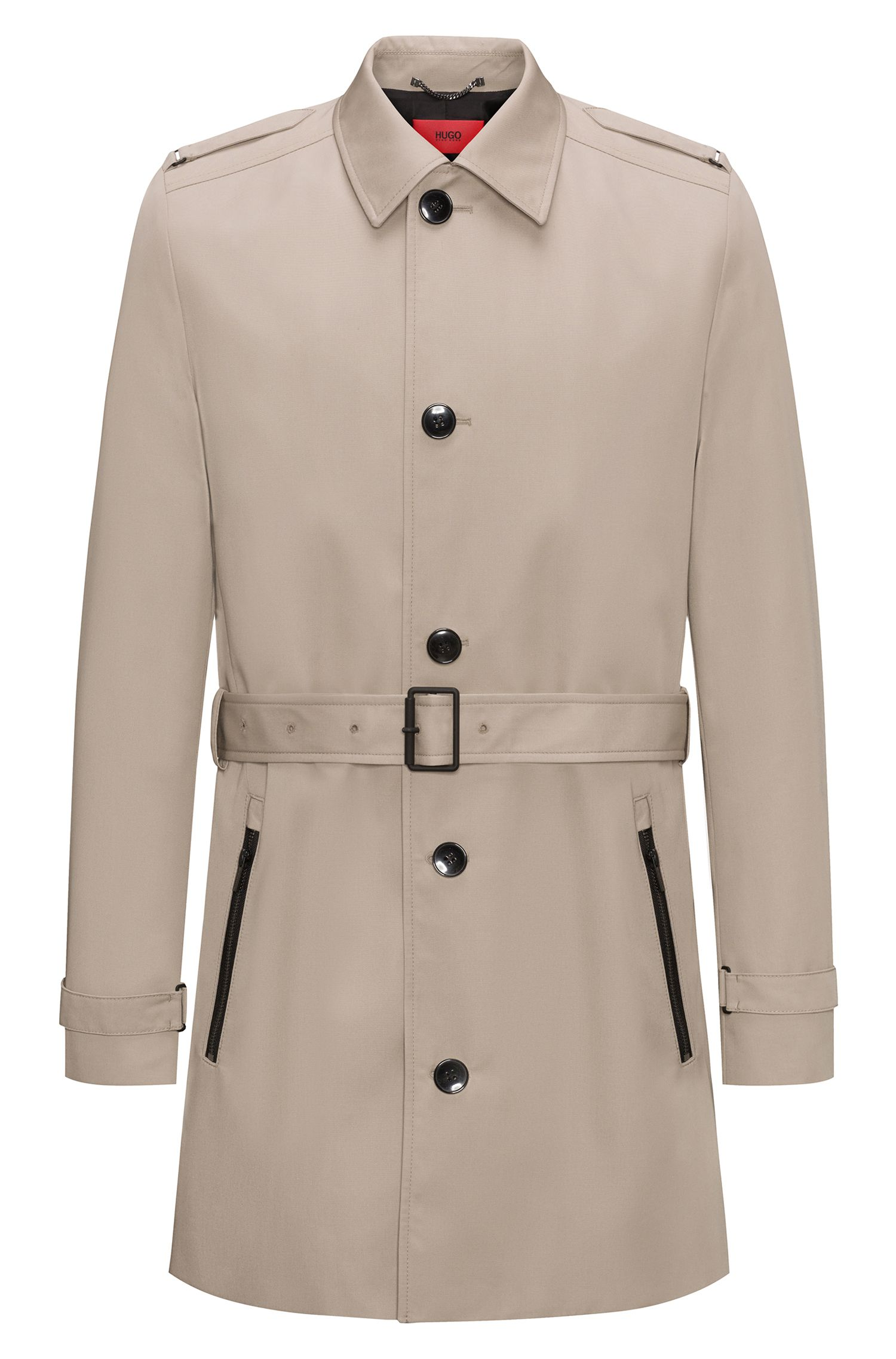 Trench-coat Slim Fit mi-long imperméable