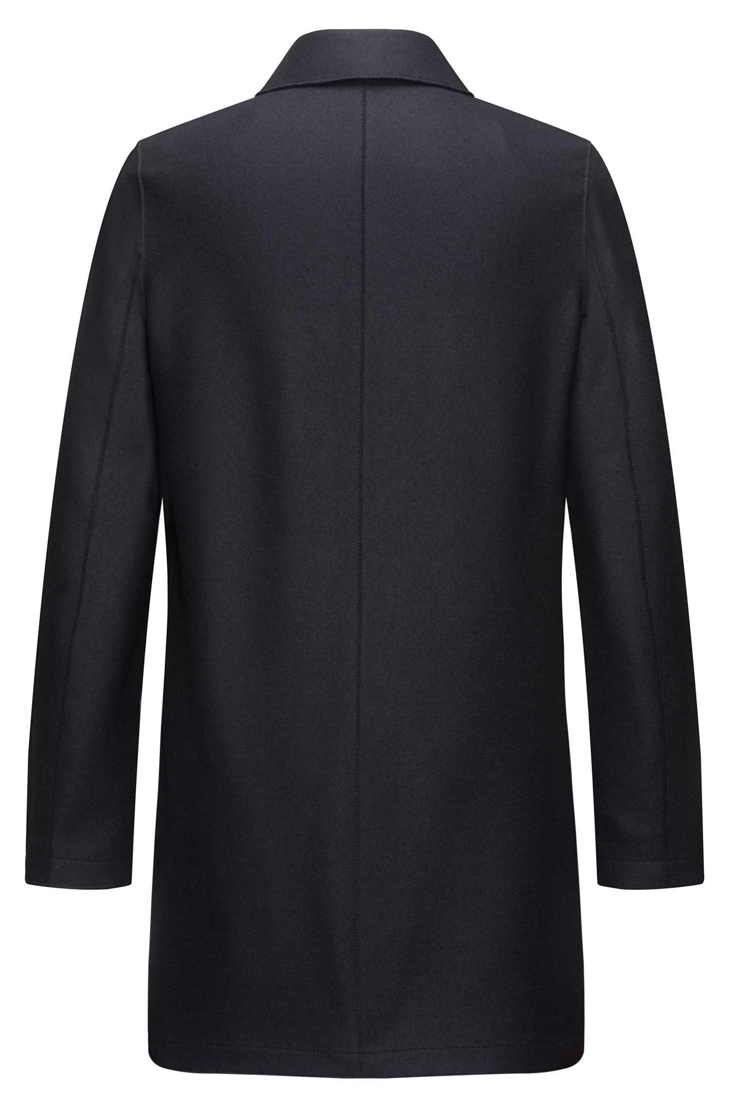 Regular-fit double-breasted shawl-collar coat in wool-blend