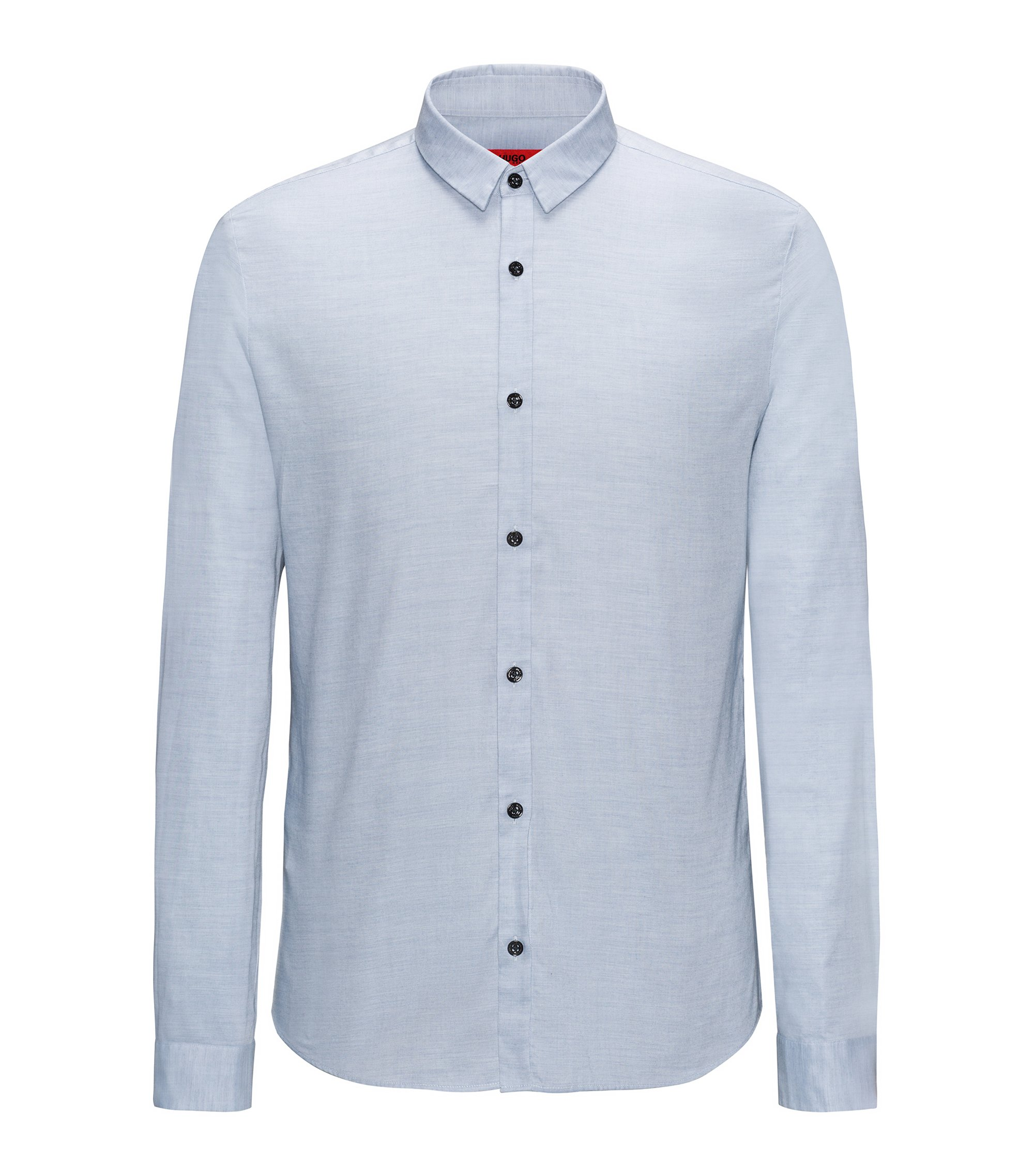 Camicia extra slim fit in cotone oxford, Celeste
