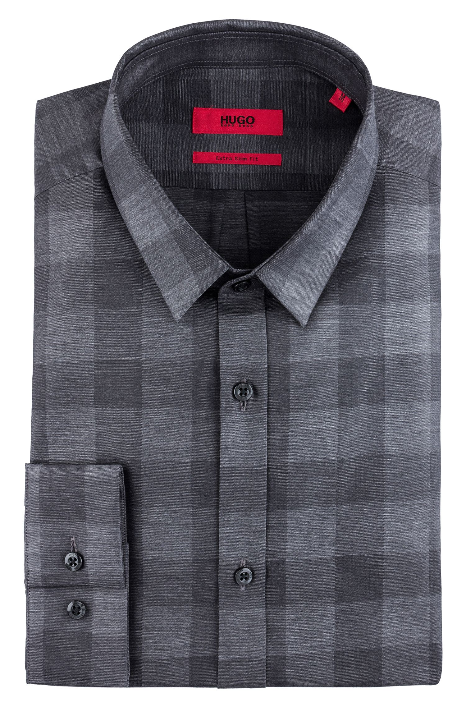 Extra slim-fit cotton shirt in a Vichy check
