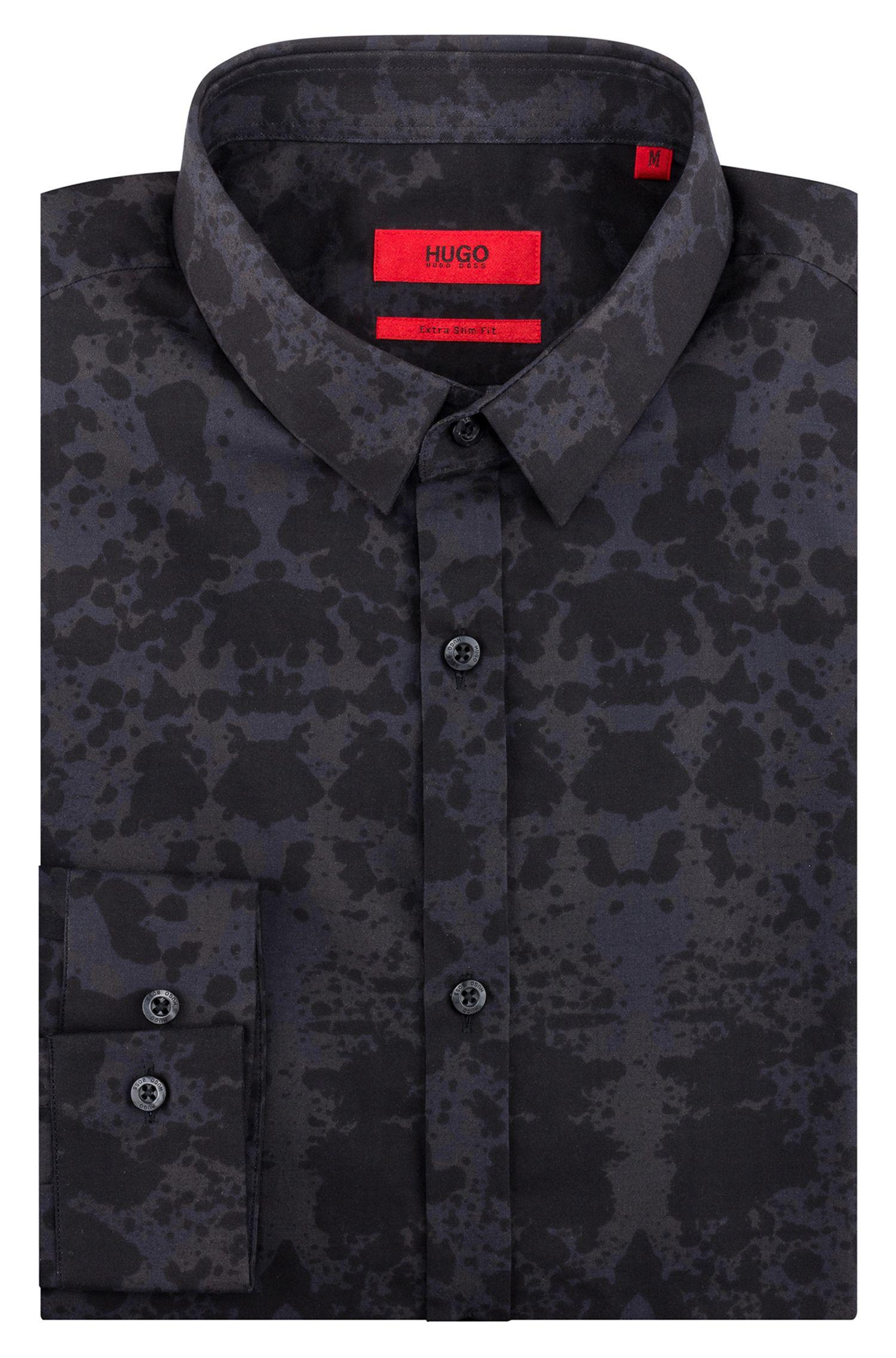 Camisa slim fit de algodón con estampado de Rorschach