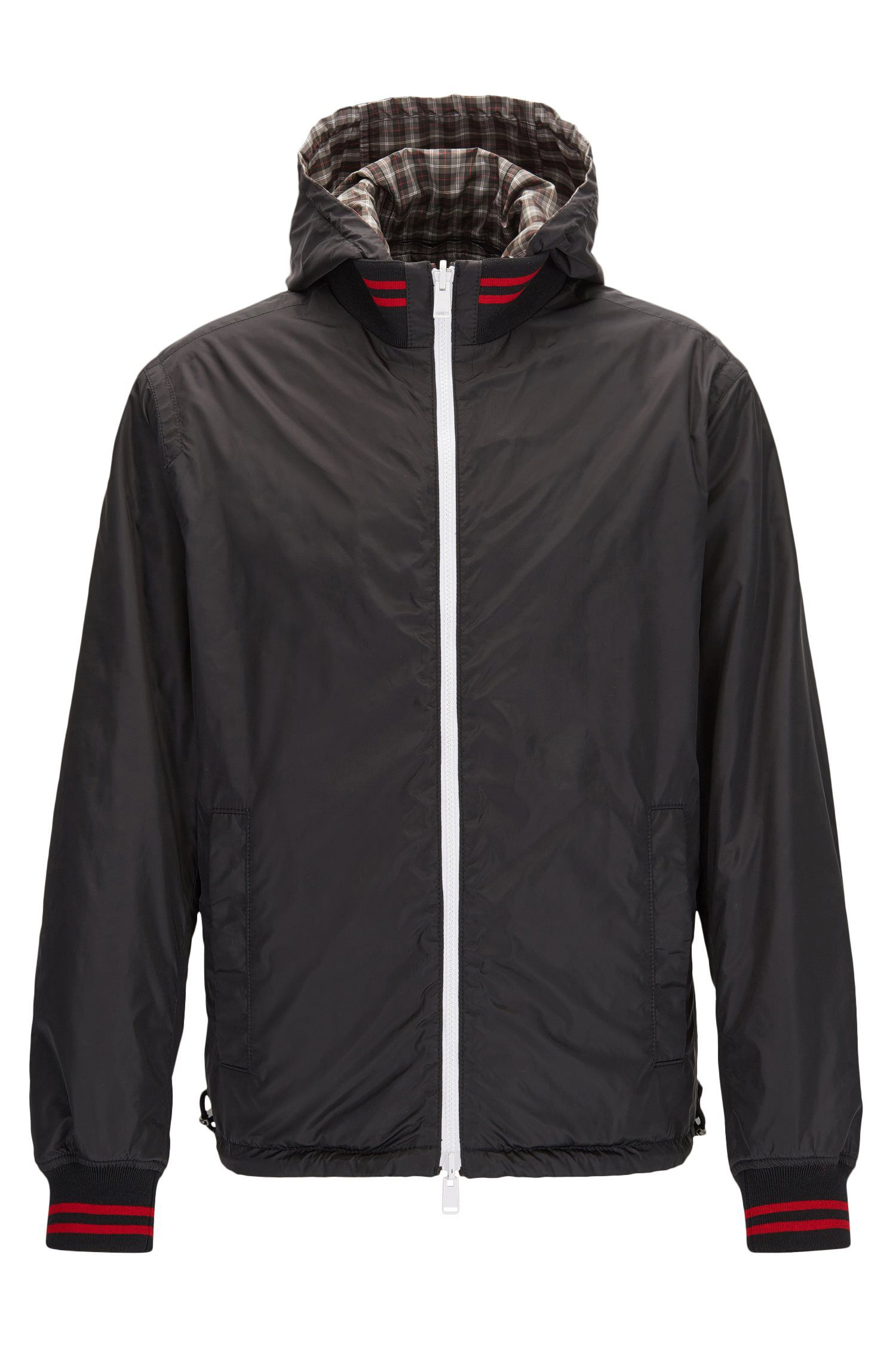 Regular-fit reversible jacket in technical fabric