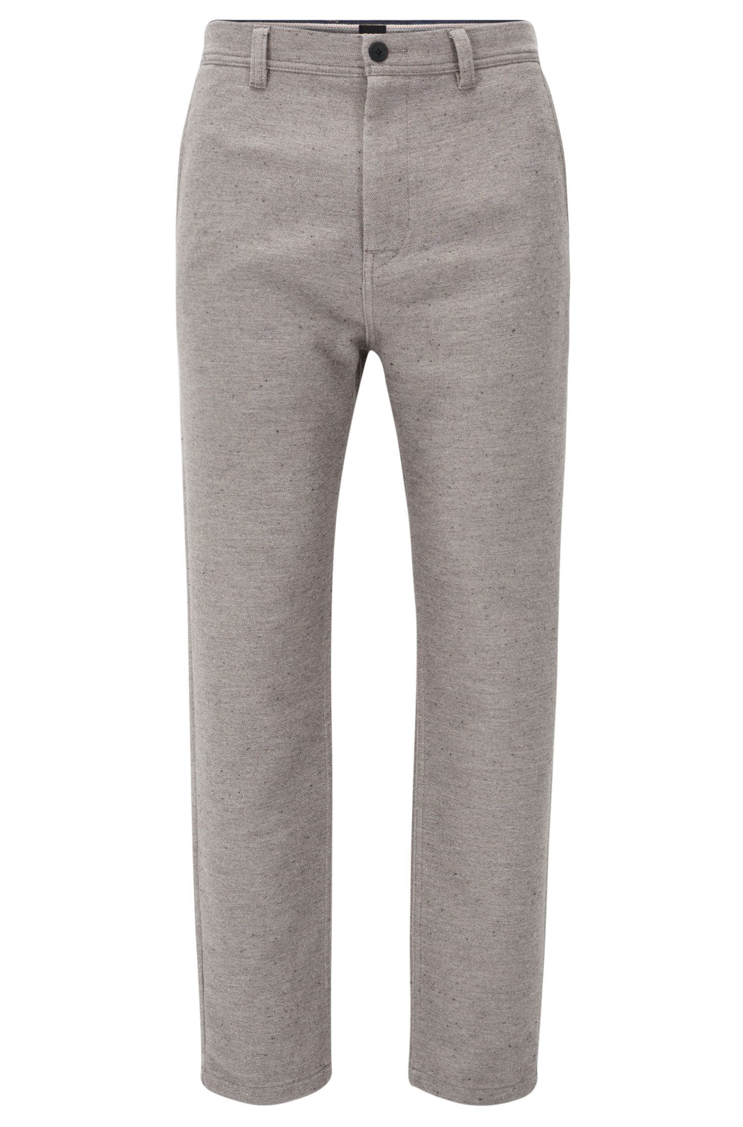 Tapered-fit trousers in a cotton blend