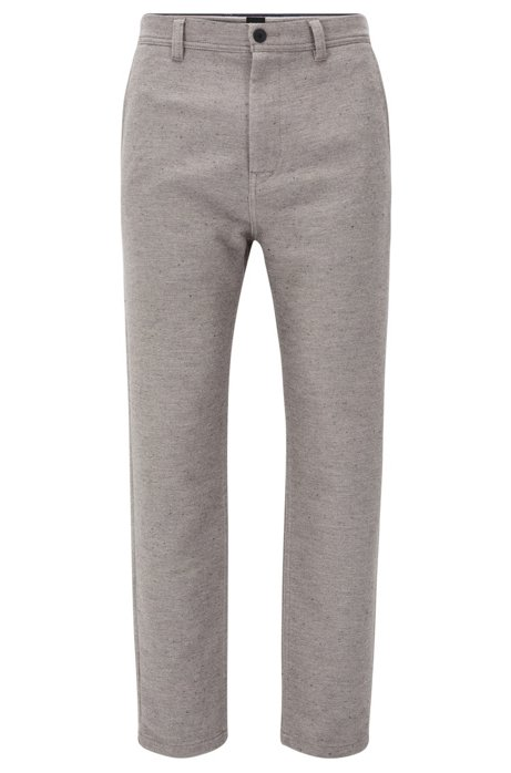 Tapered-fit trousers in a cotton blend BOSS In China Cheap Online Discount Cheap Outlet Online Clearance Low Price Fee Shipping I6DXH