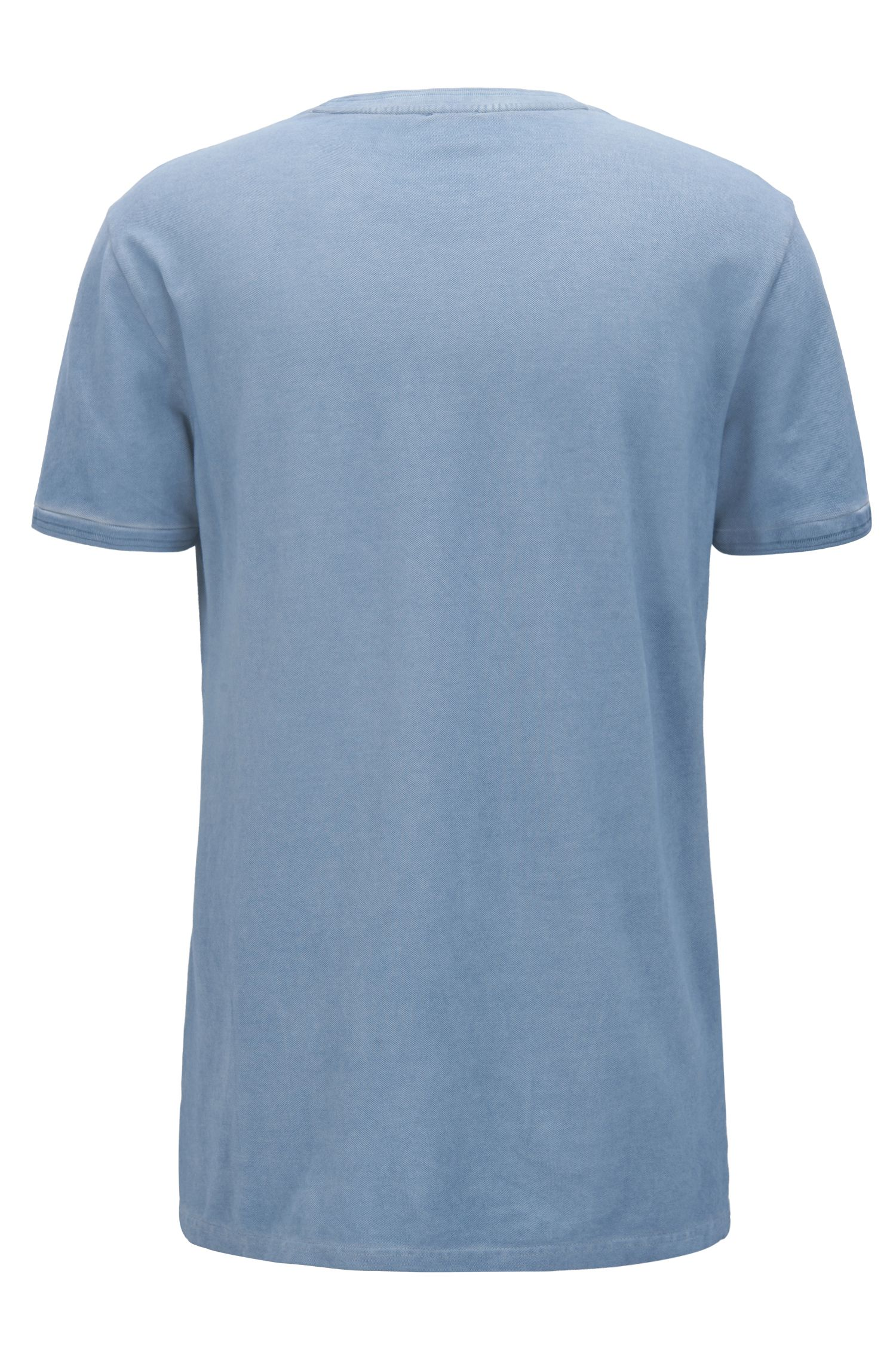 Garment-dyed T-shirt in cotton pique