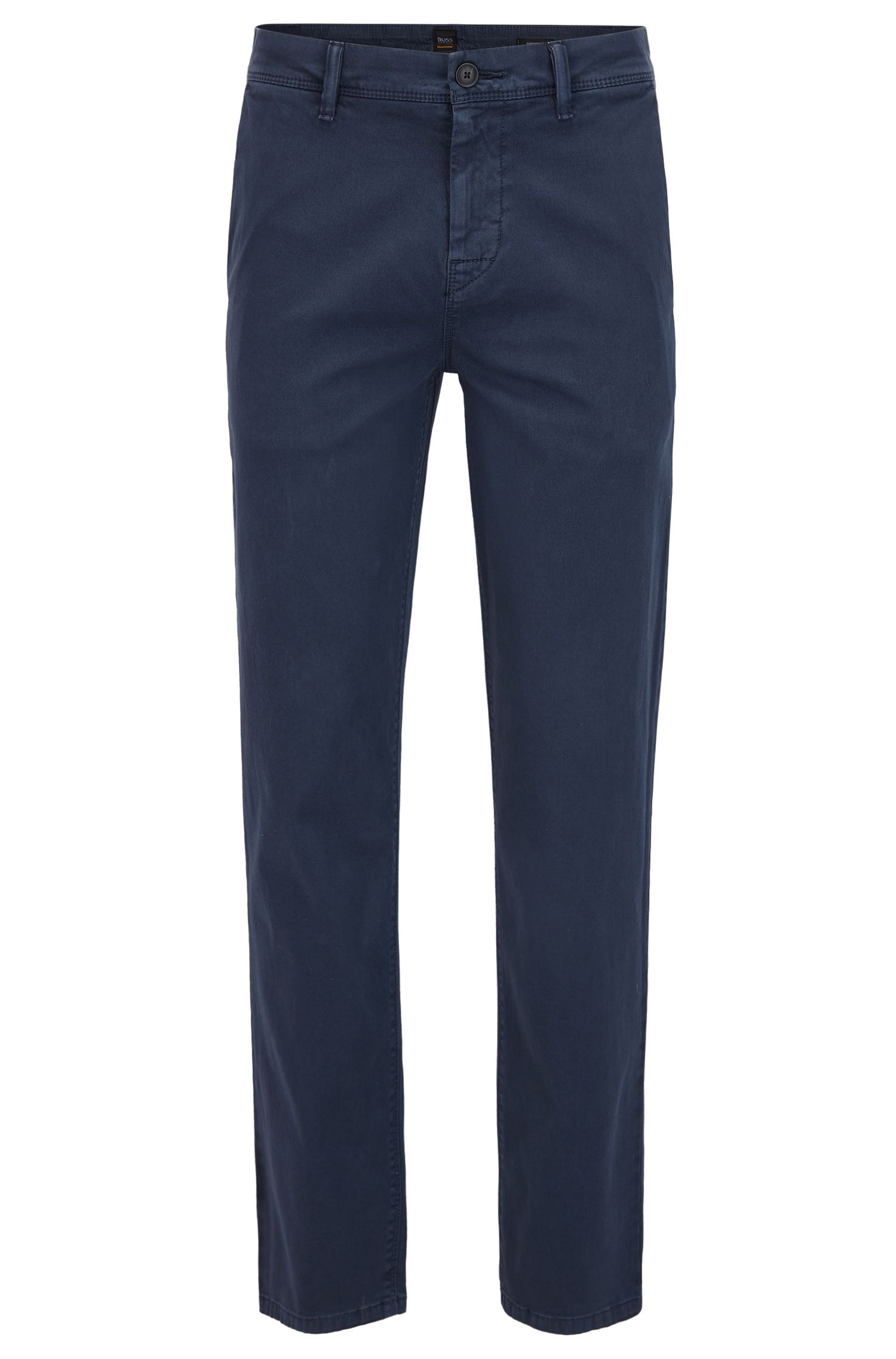 Tapered-fit chinos in double-dyed stretch cotton