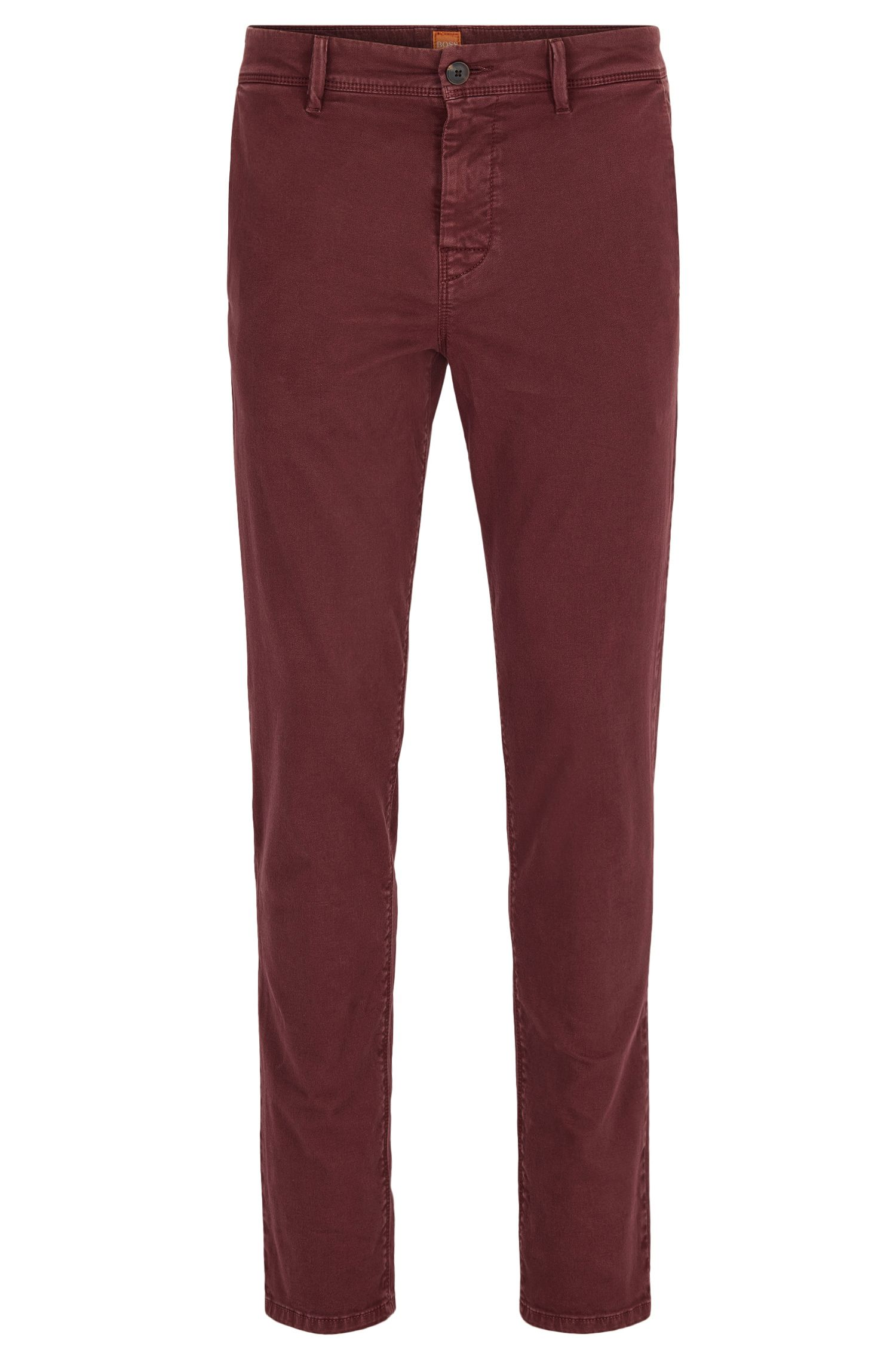 Tapered-fit chino van dubbelgeverfde stretchkatoen