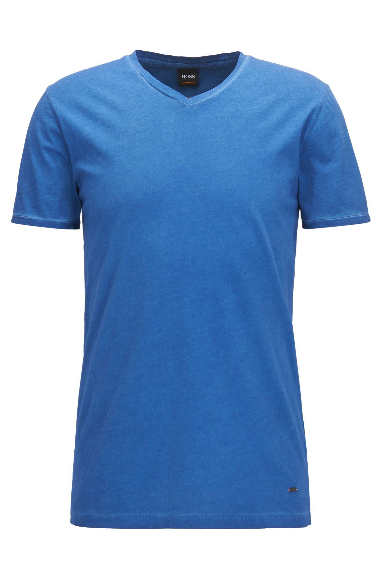 T-shirt Regular Fit en coton, à colV