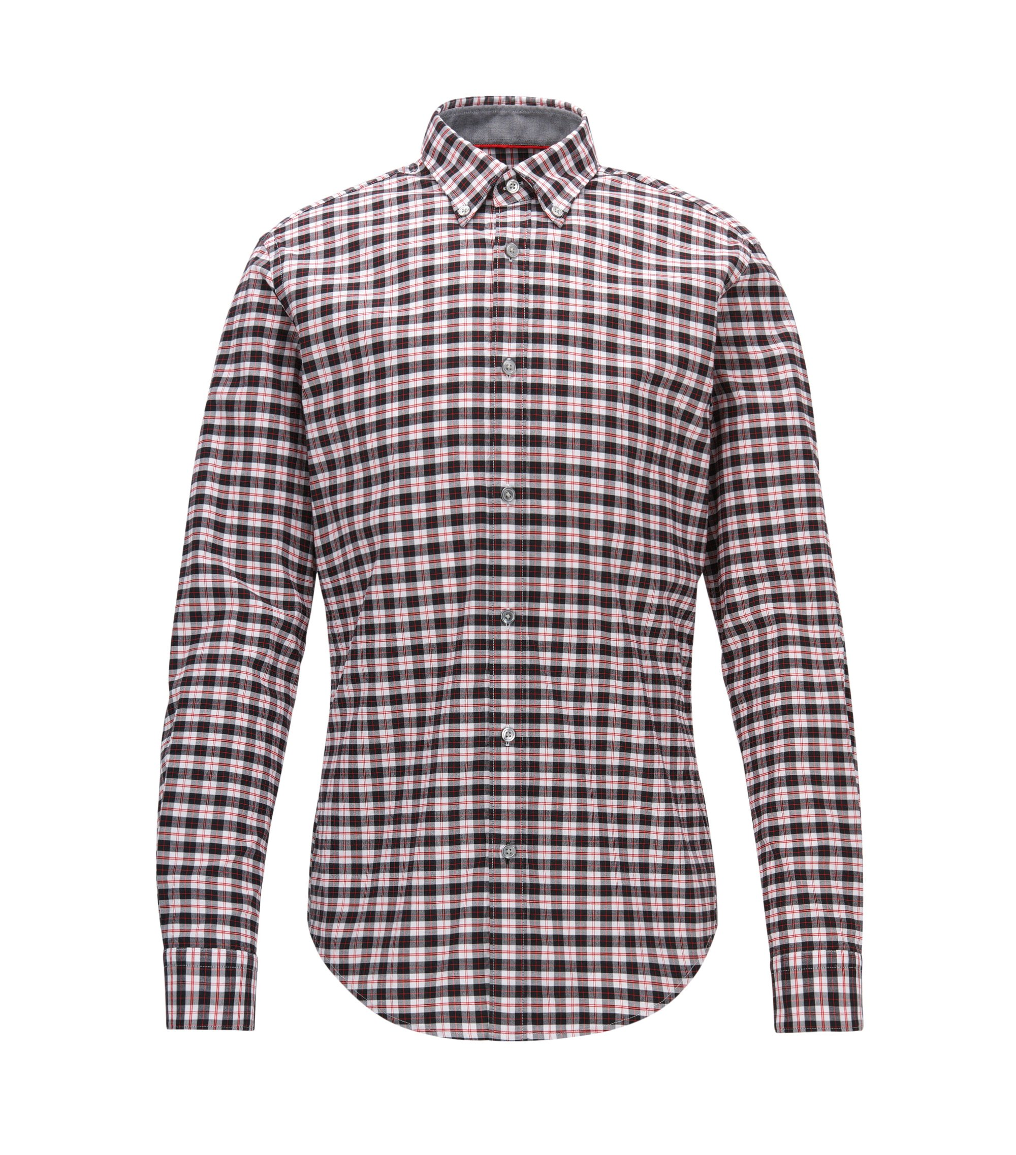 Chemise à carreaux Slim Fit en coton Oxford stretch, Fantaisie