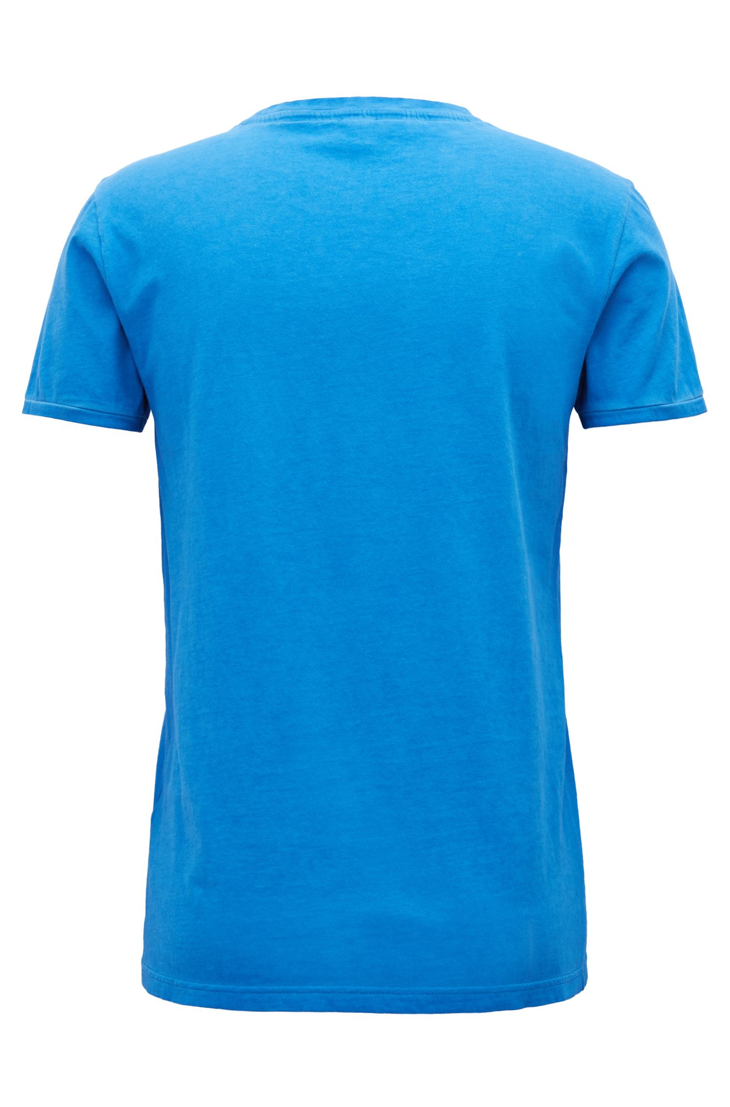 T-shirt Regular Fit en coton teint en pièce