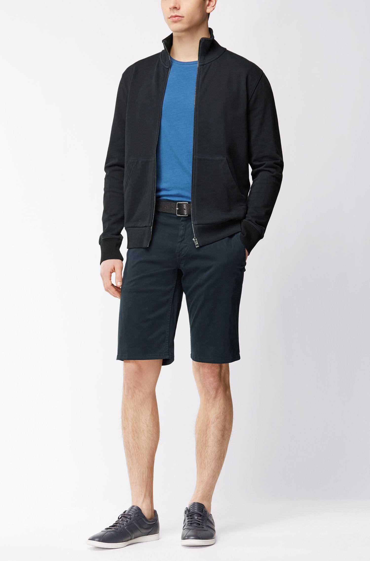 T-shirt Regular Fit en coton teint en pièce, Bleu