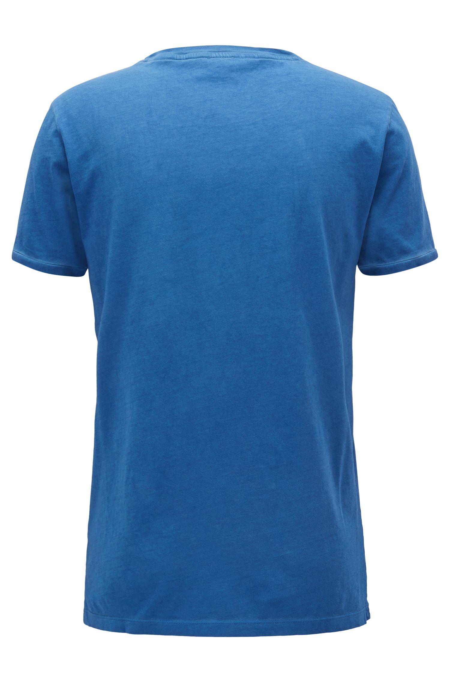 T-shirt Regular Fit en coton teint en pièce