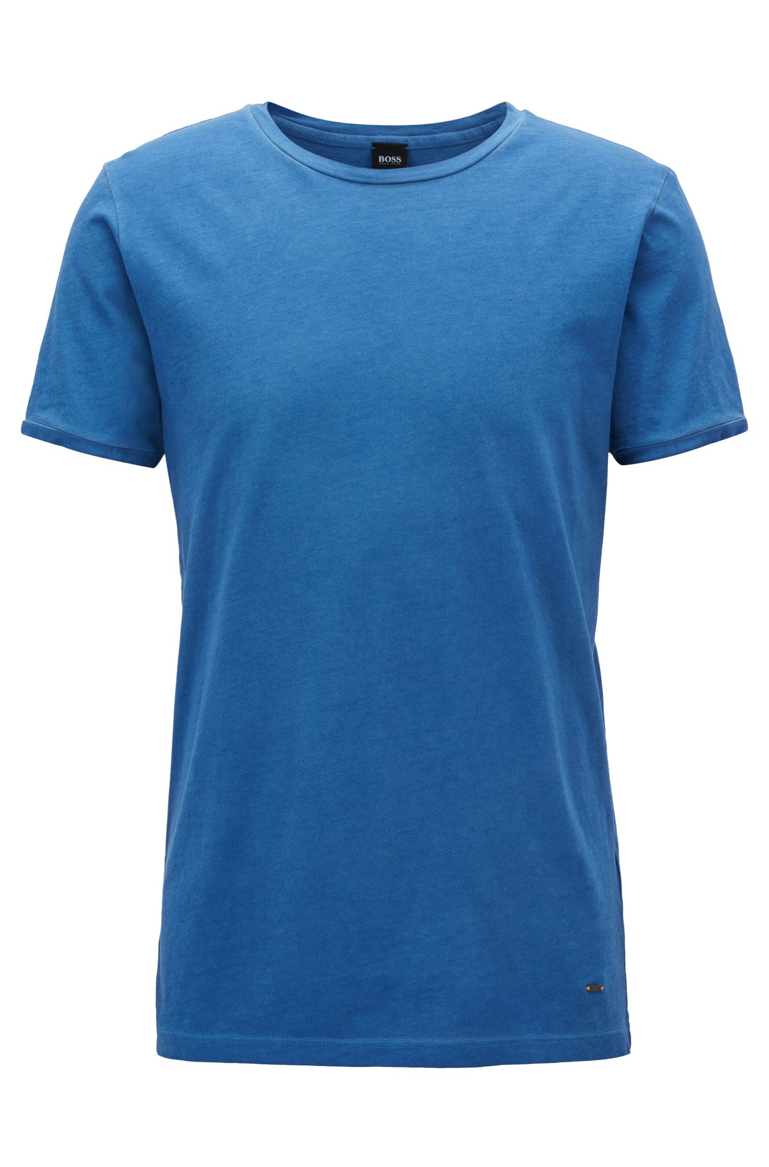 Regular-fit garment-dyed T-shirt in cotton