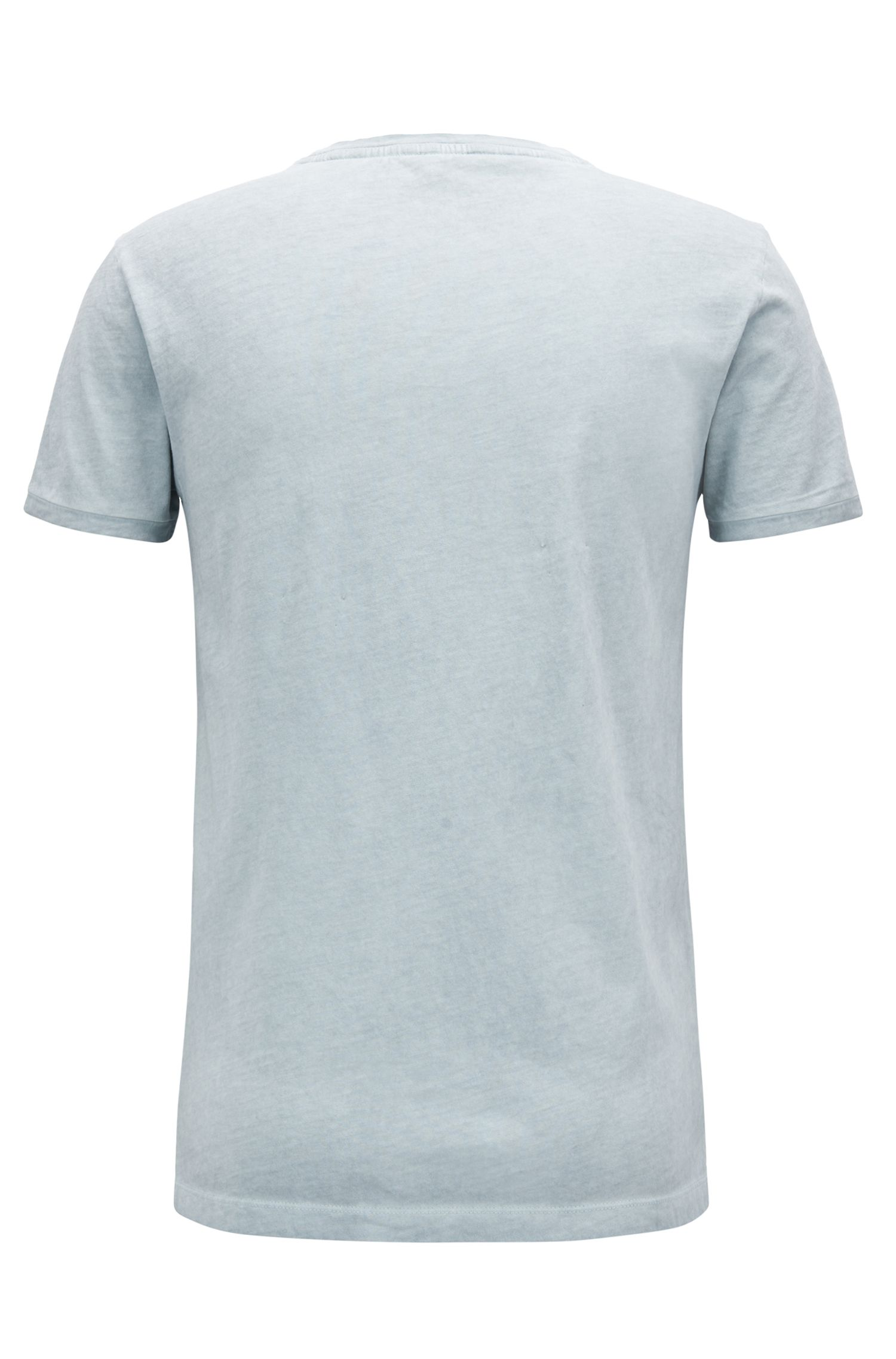Regular-fit T-shirt van garment-dyed katoen