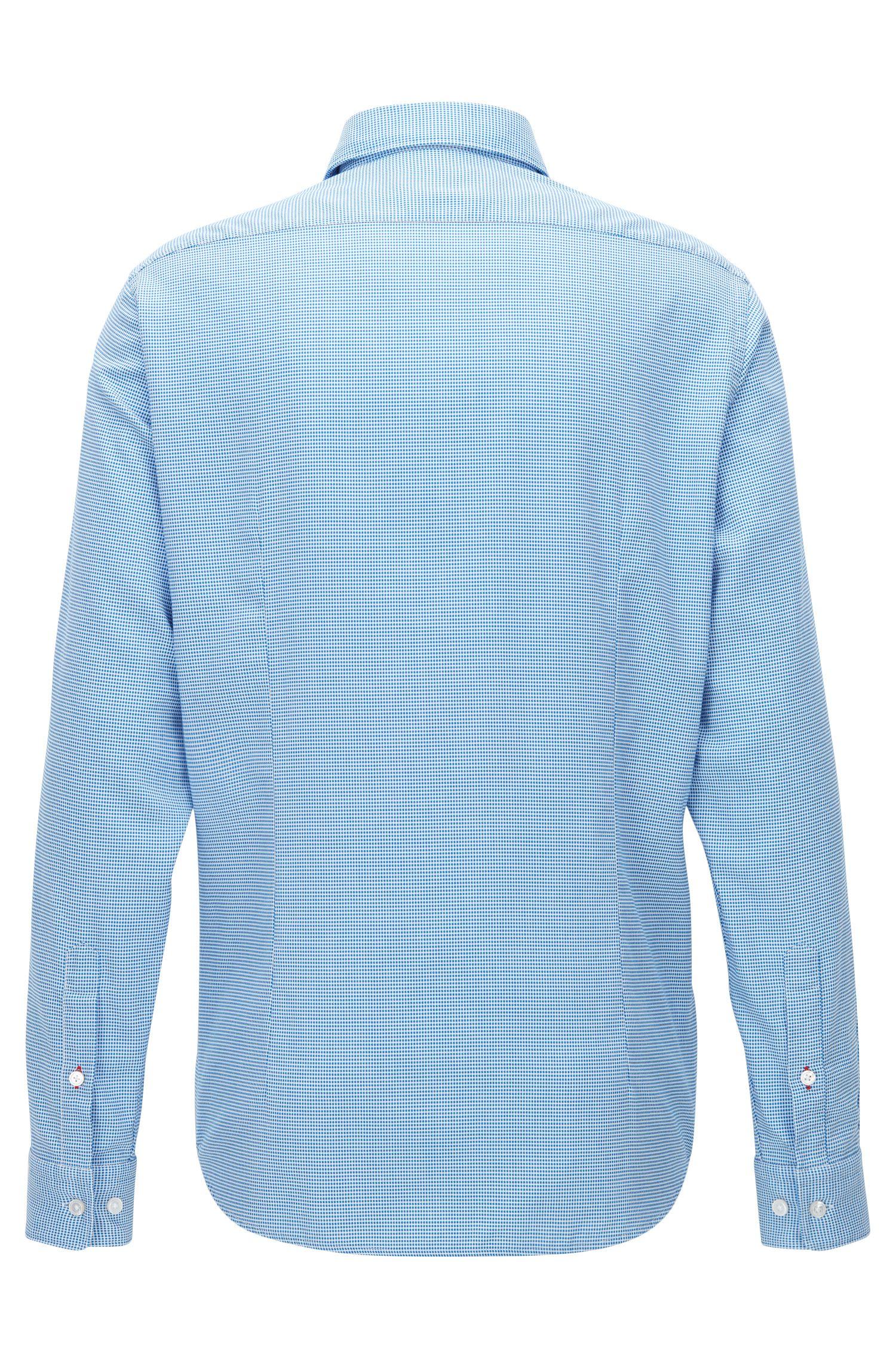 Regular-fit overhemd van katoen met microstructuur