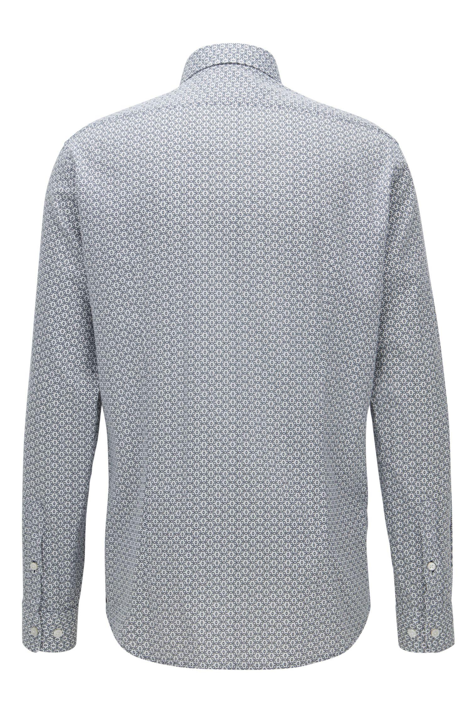 Regular-fit overhemd van katoen met print