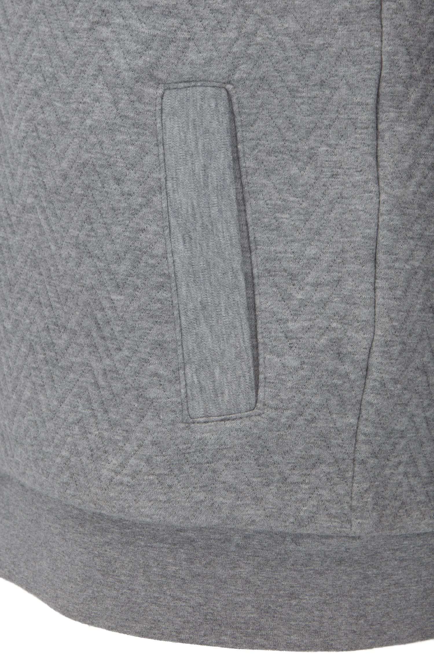 Chaqueta regular fit en algodón con capucha y guateado de espiga