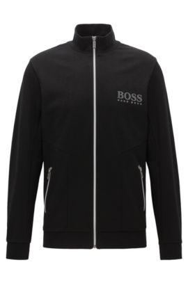 Regular-fit jas van een katoenmix, Zwart
