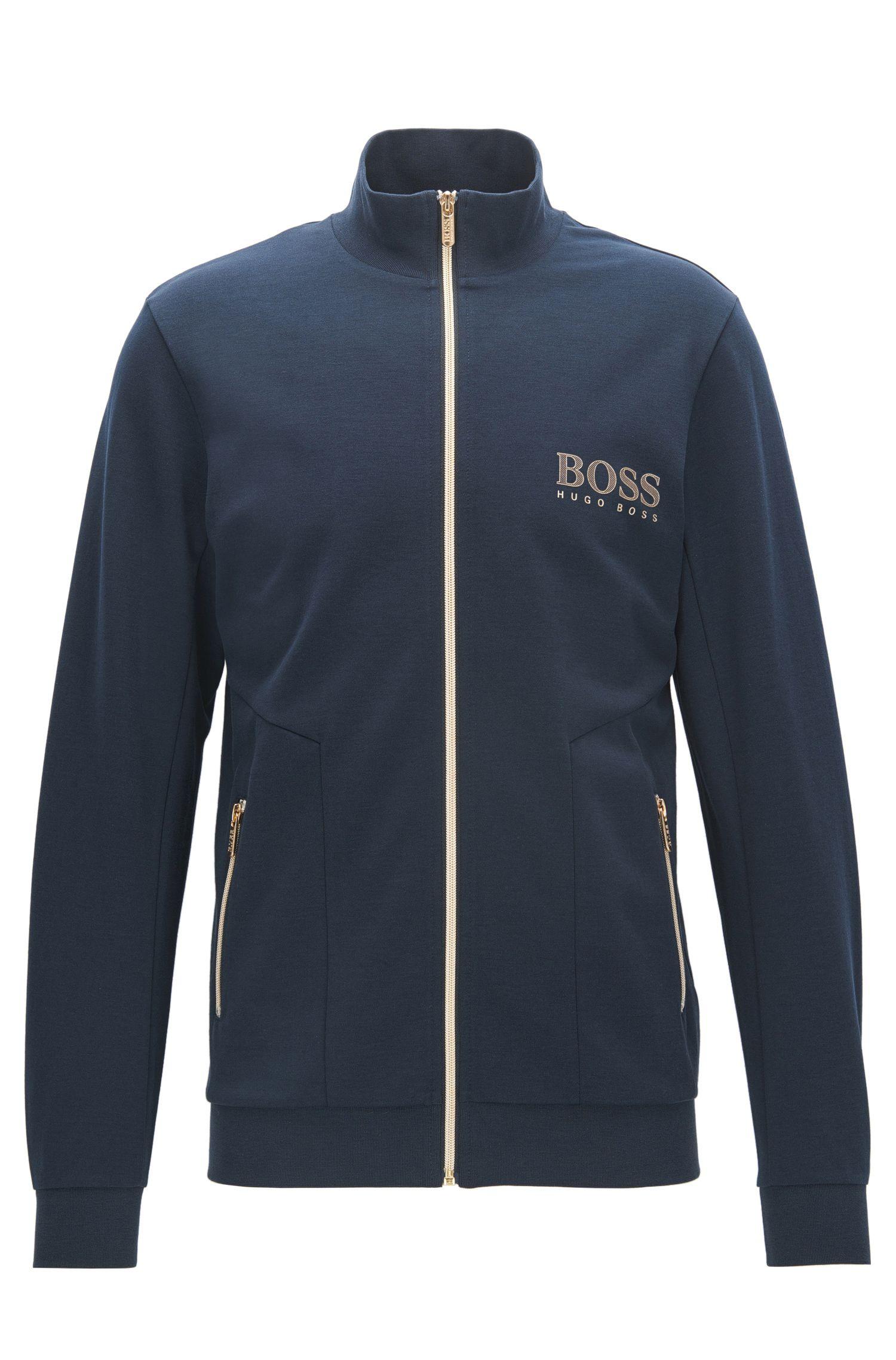 Regular-fit jas van een katoenmix
