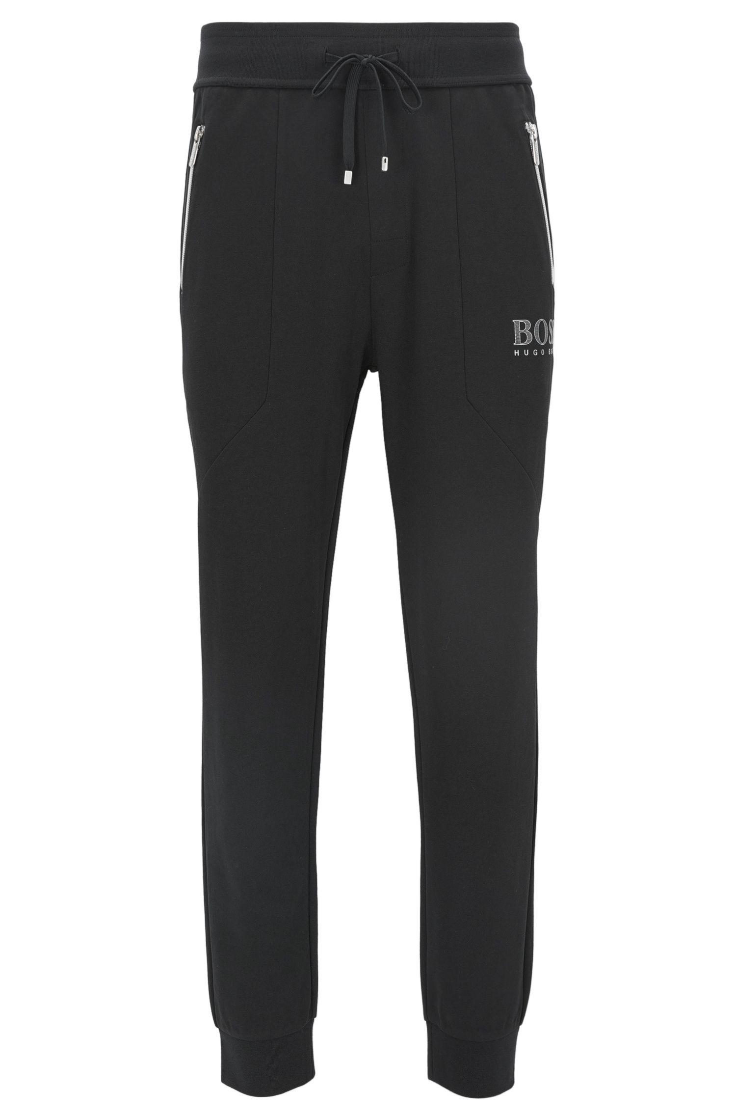 Cotton-blend loungewear trousers