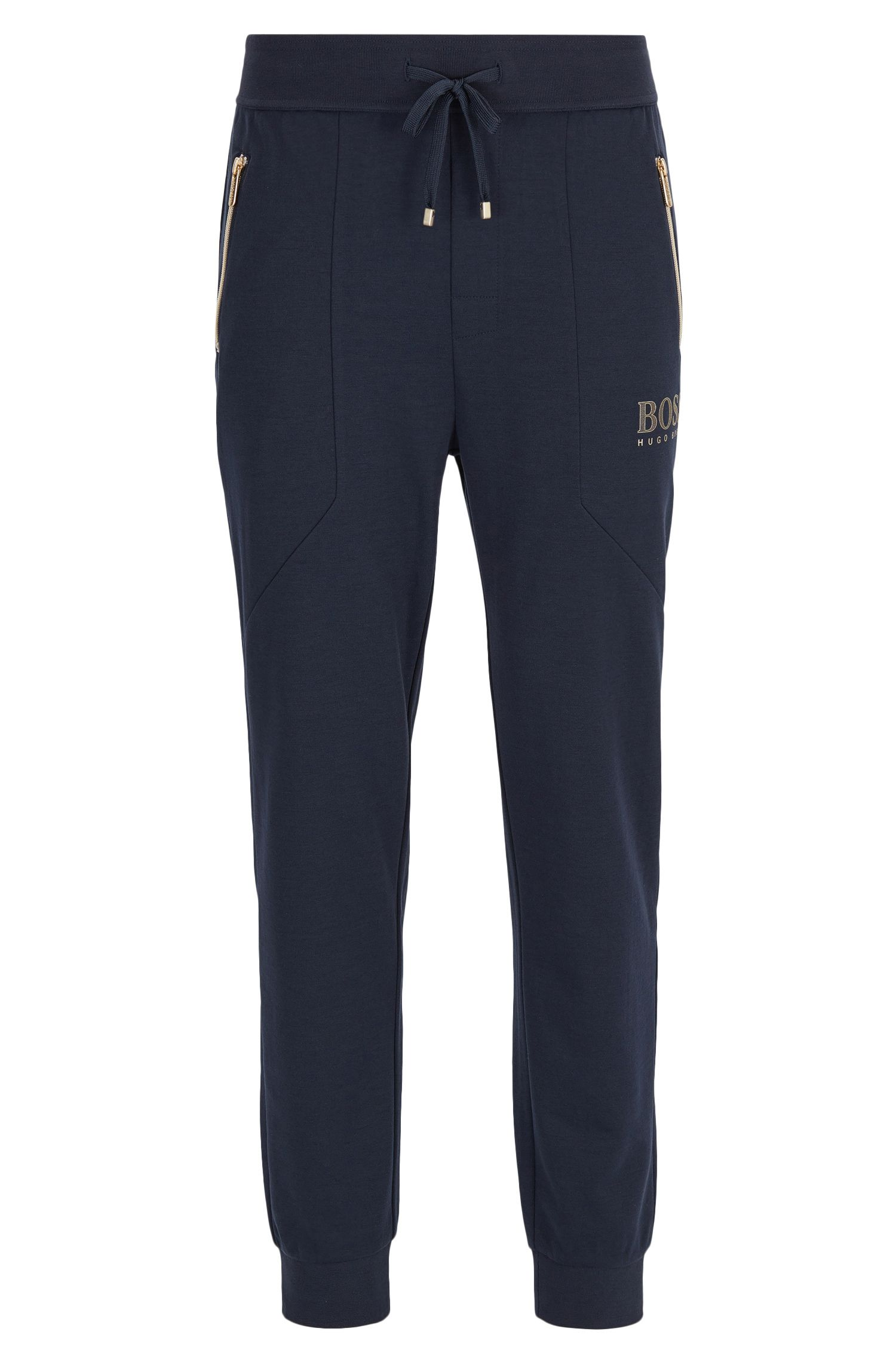 Cotton-blend loungewear trousers