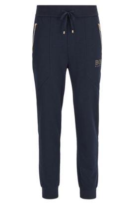 Pantalon d'intérieur en coton mélangé, Bleu foncé