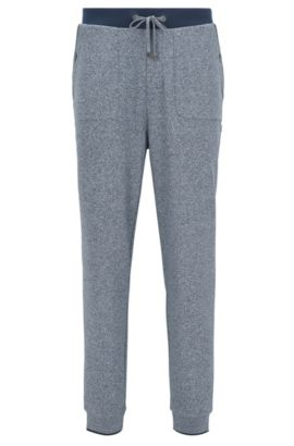 Loungewear trousers in a cotton blend, Dark Blue