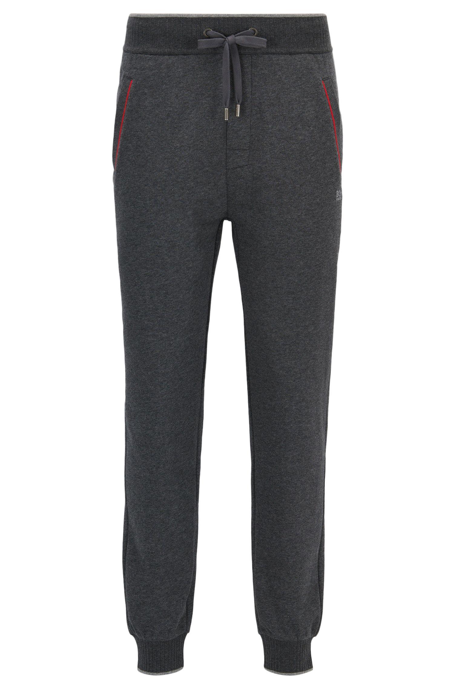 Pantalones de chándal con puños en felpa de mezcla de algodón