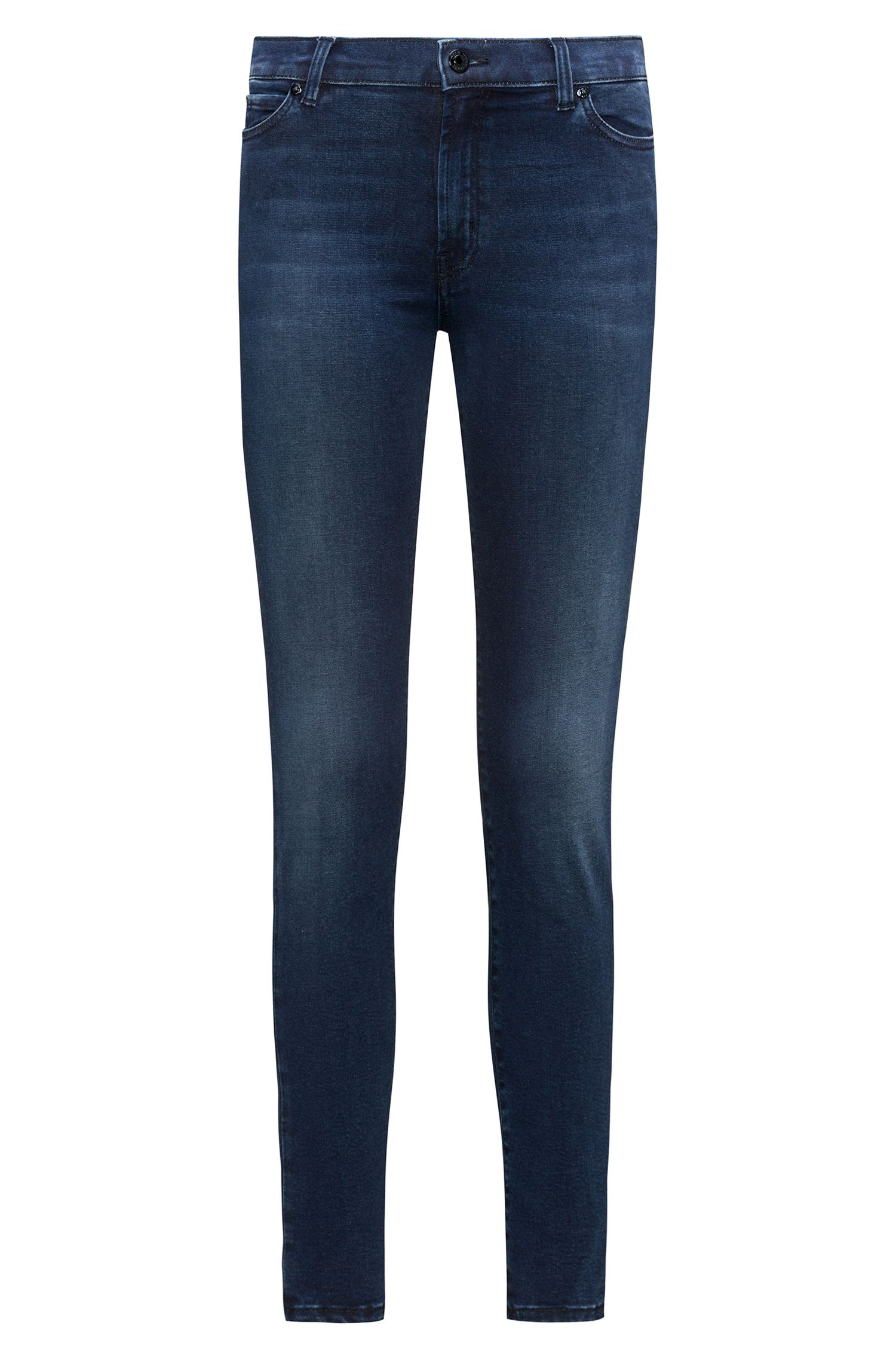 Jeans extra slim fit blu medio in denim super elasticizzato