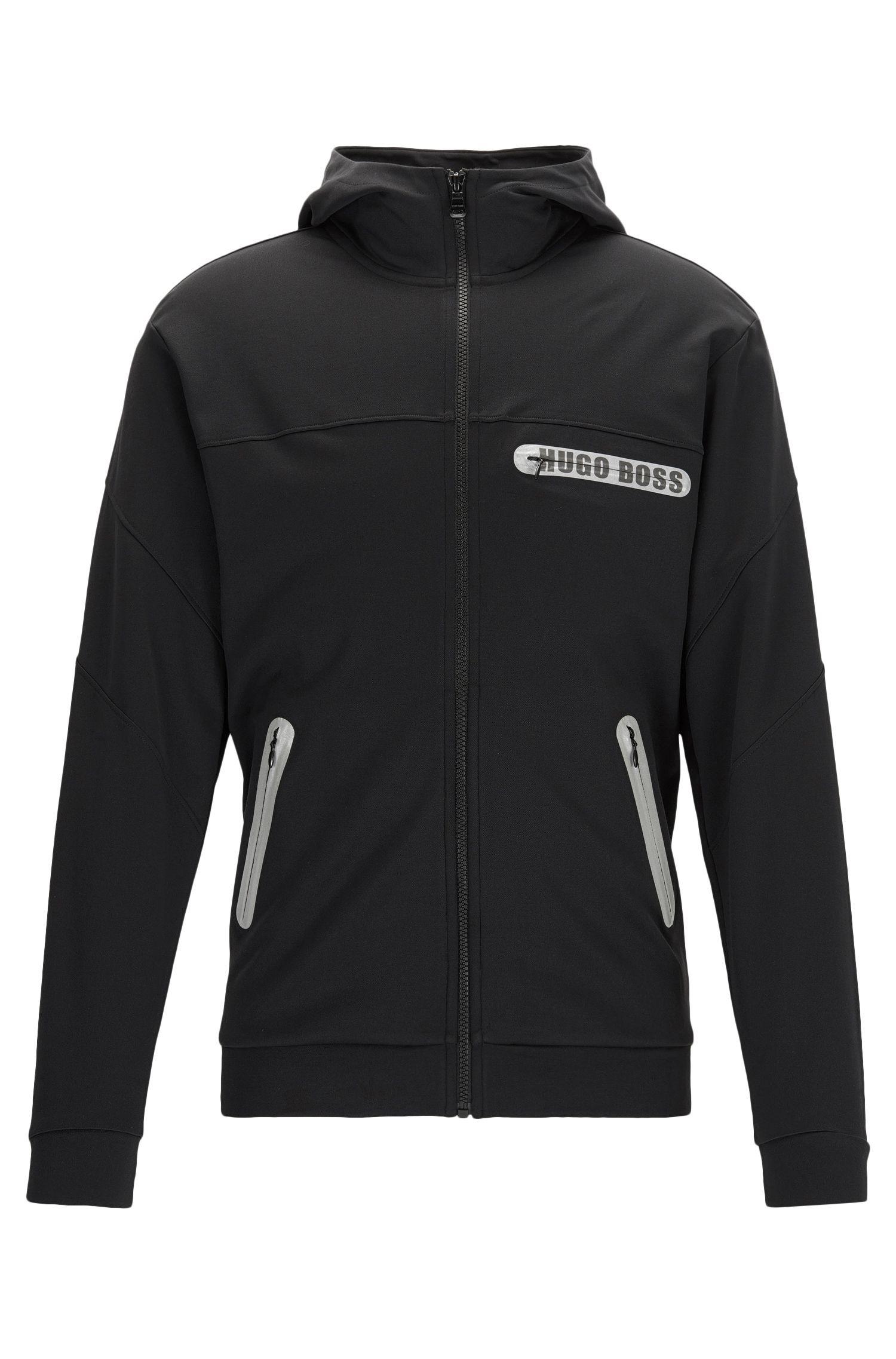 Regular-fit zip-through jacket in a cotton blend