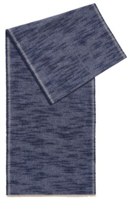 Scarf in brushed cotton, Dark Blue