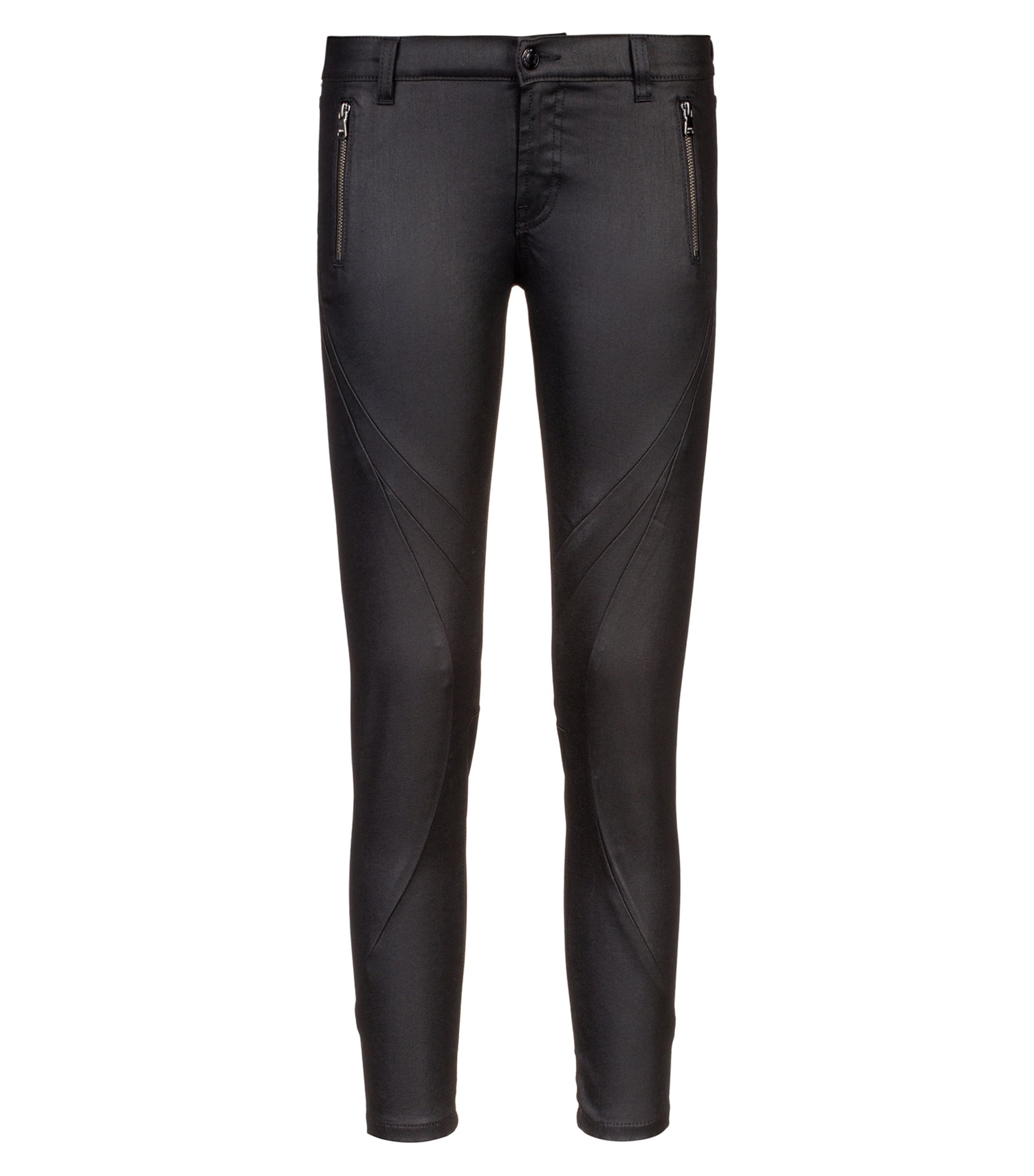 Jeans skinny fit in denim super elasticizzato, Nero