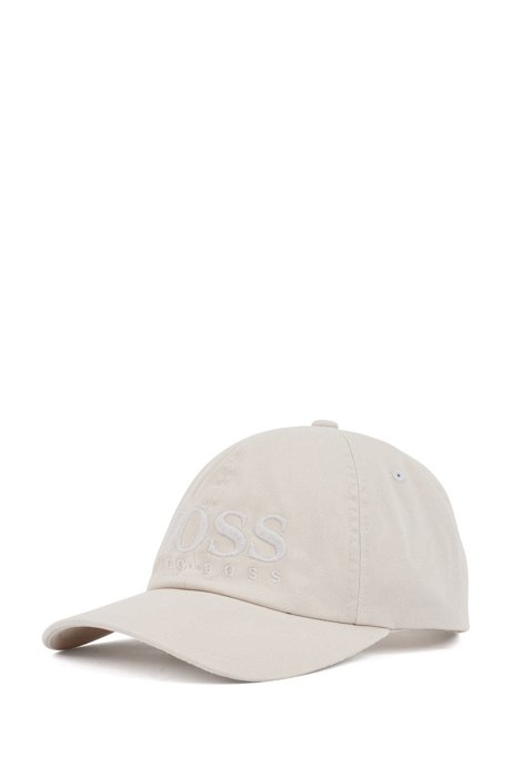 Logo baseball cap in cotton twill, Natural