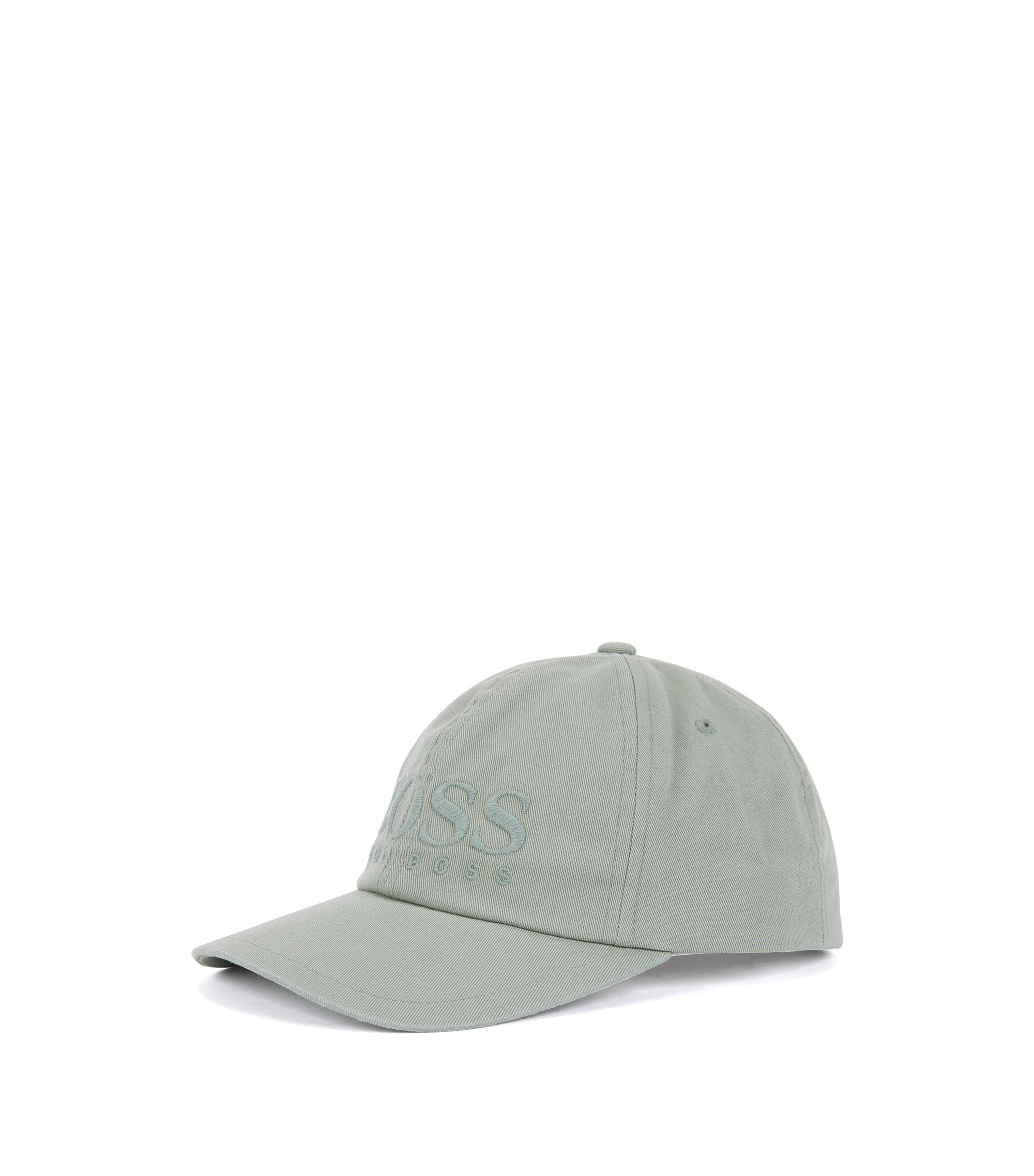 Logo baseball cap in cotton twill, Light Green