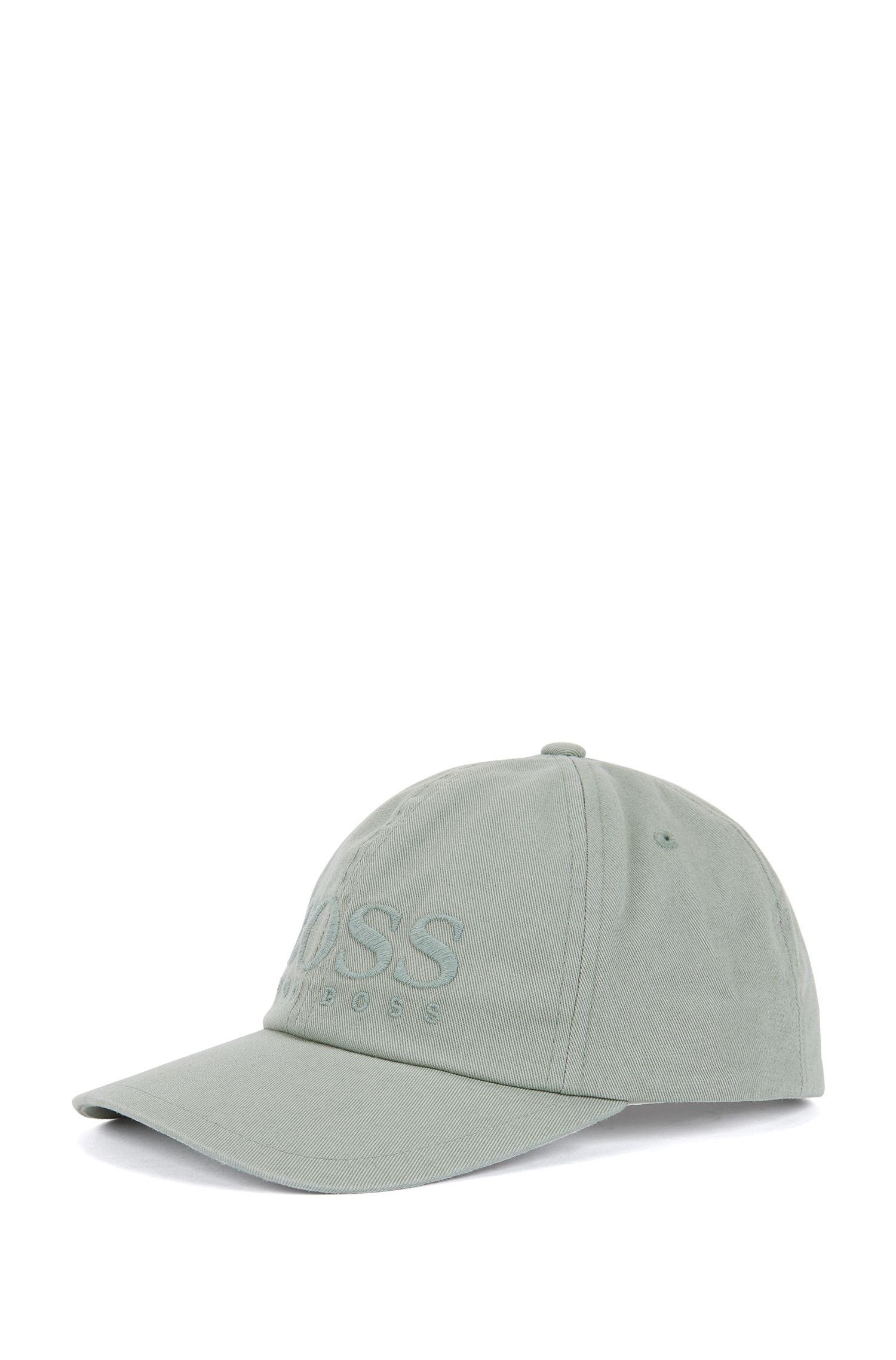 Logo baseball cap in cotton twill