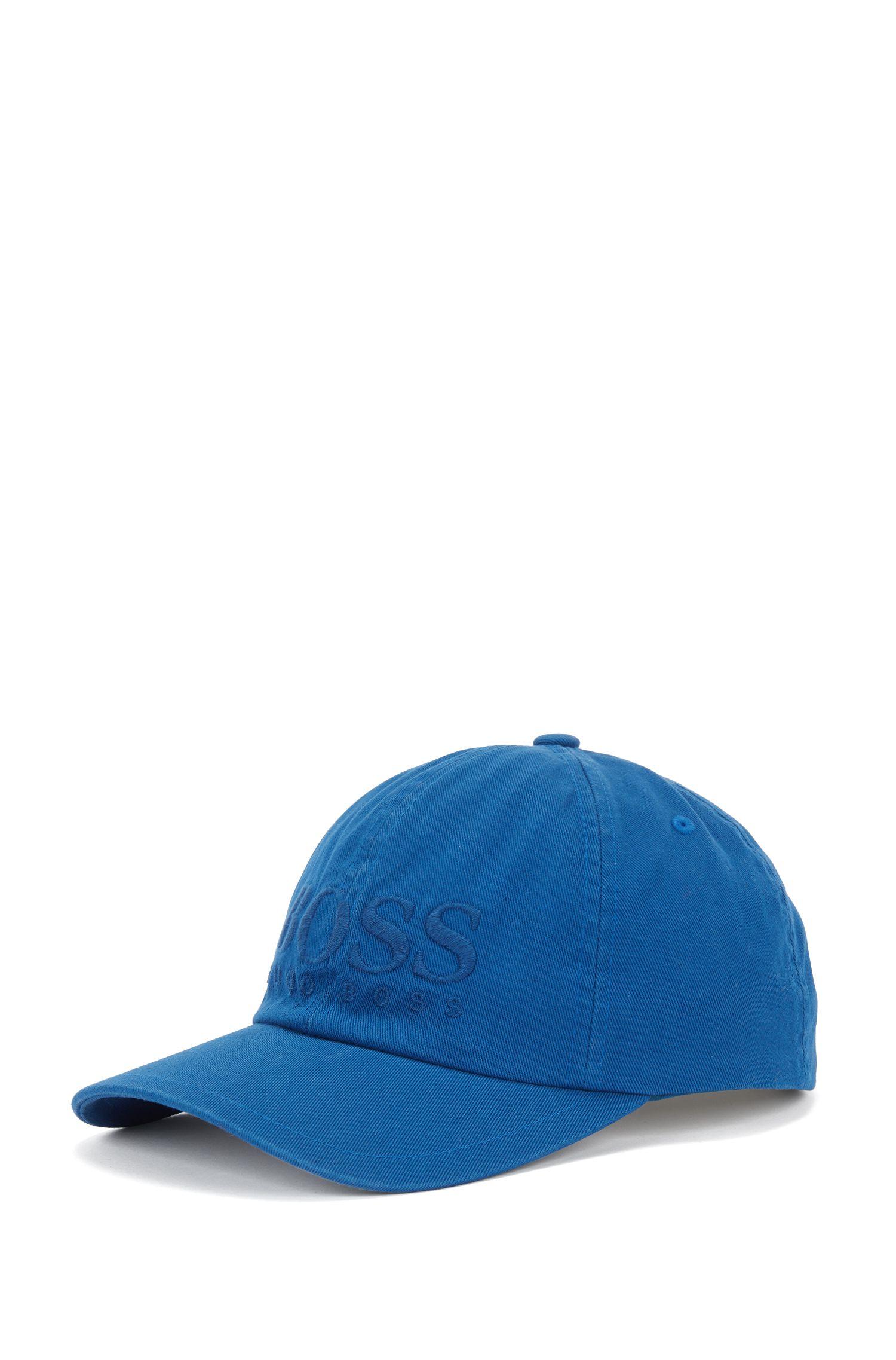 Gorra de béisbol en sarga de algodón con logo, Azul