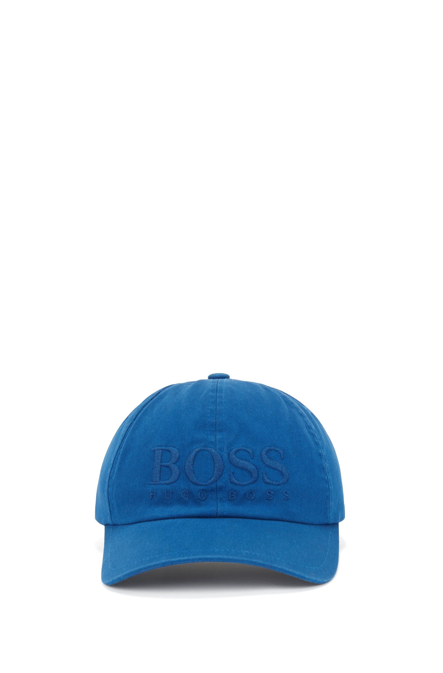 Logo baseball cap in cotton twill, Blue