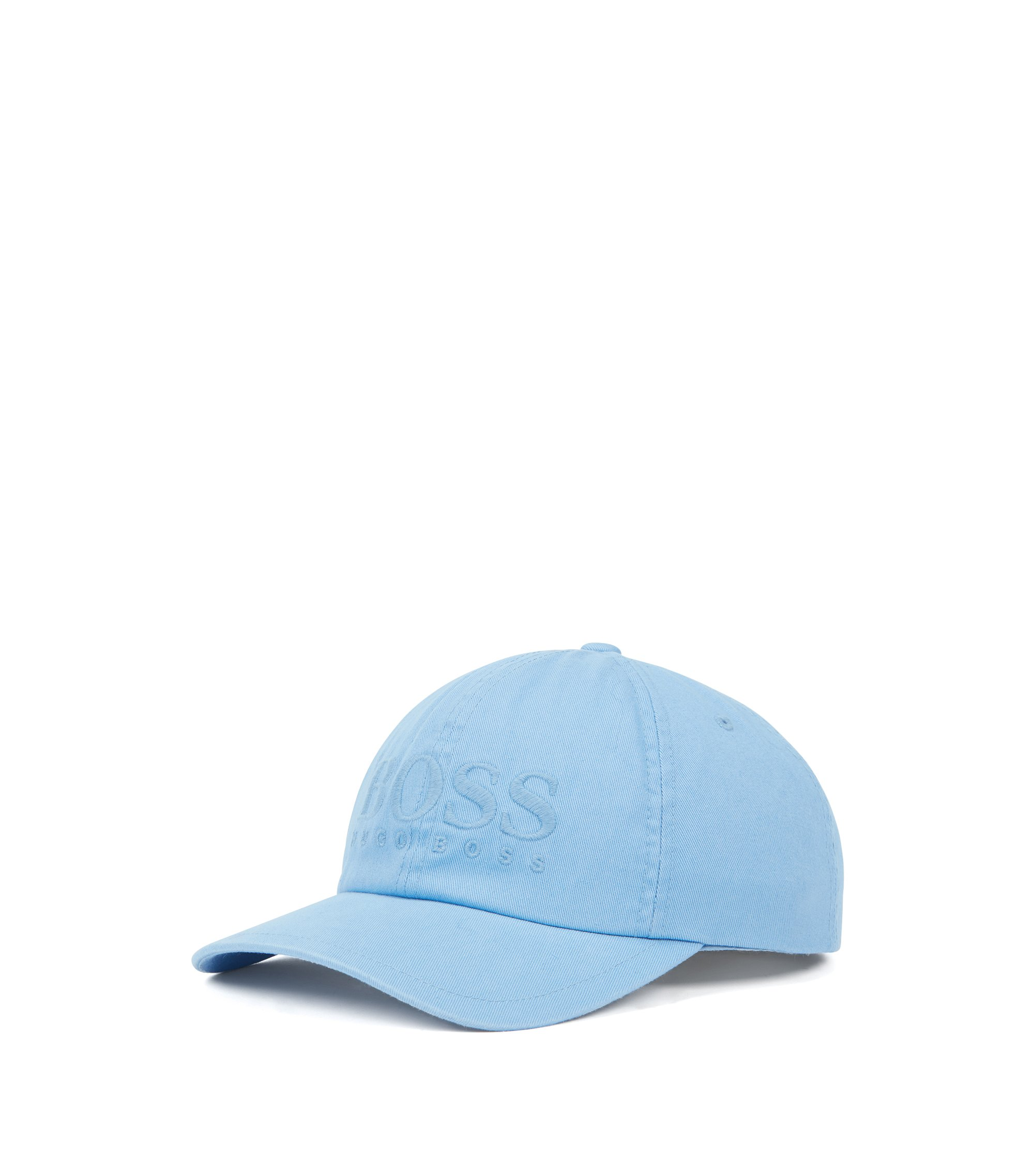 Logo baseball cap in cotton twill, Light Blue