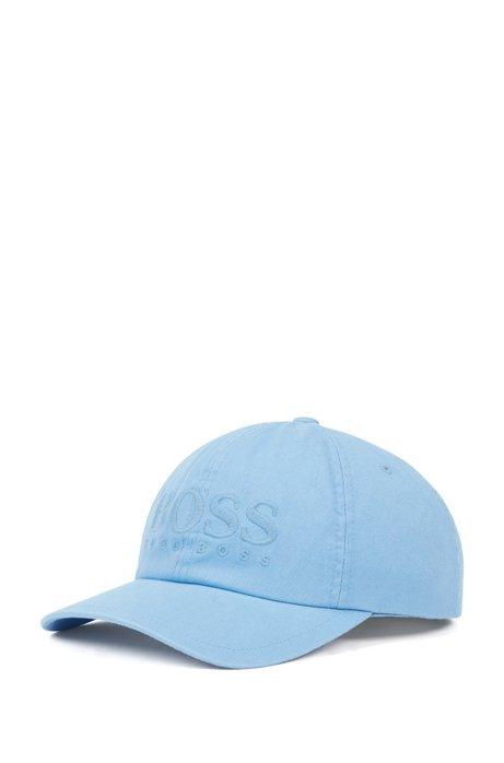 Cap aus Baumwoll-Twill mit Logo-Stickerei, Hellblau