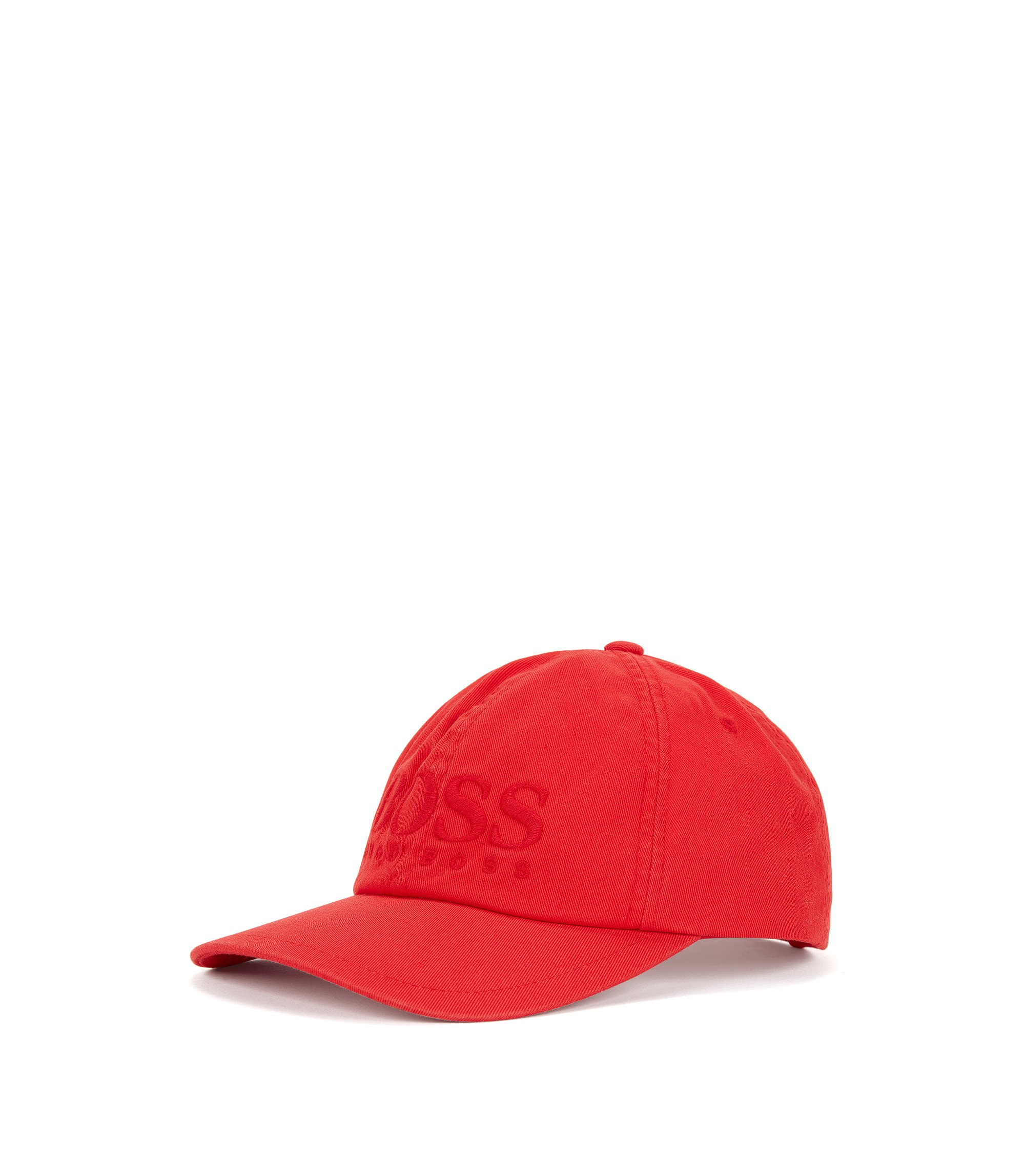 Logo baseball cap in cotton twill, Red