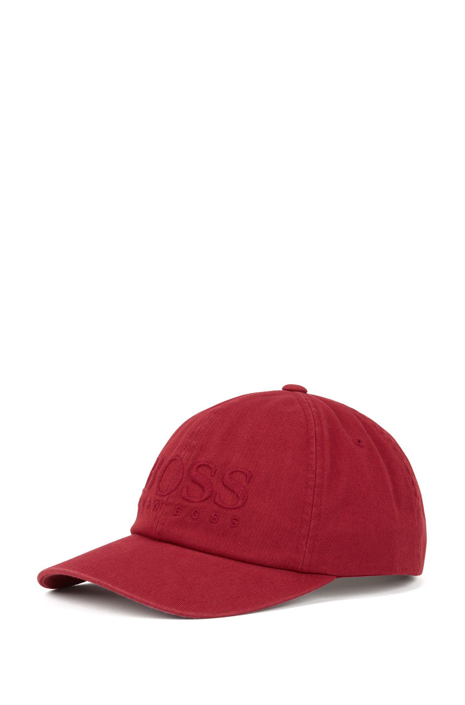 Cap aus Baumwoll-Twill mit Logo-Stickerei