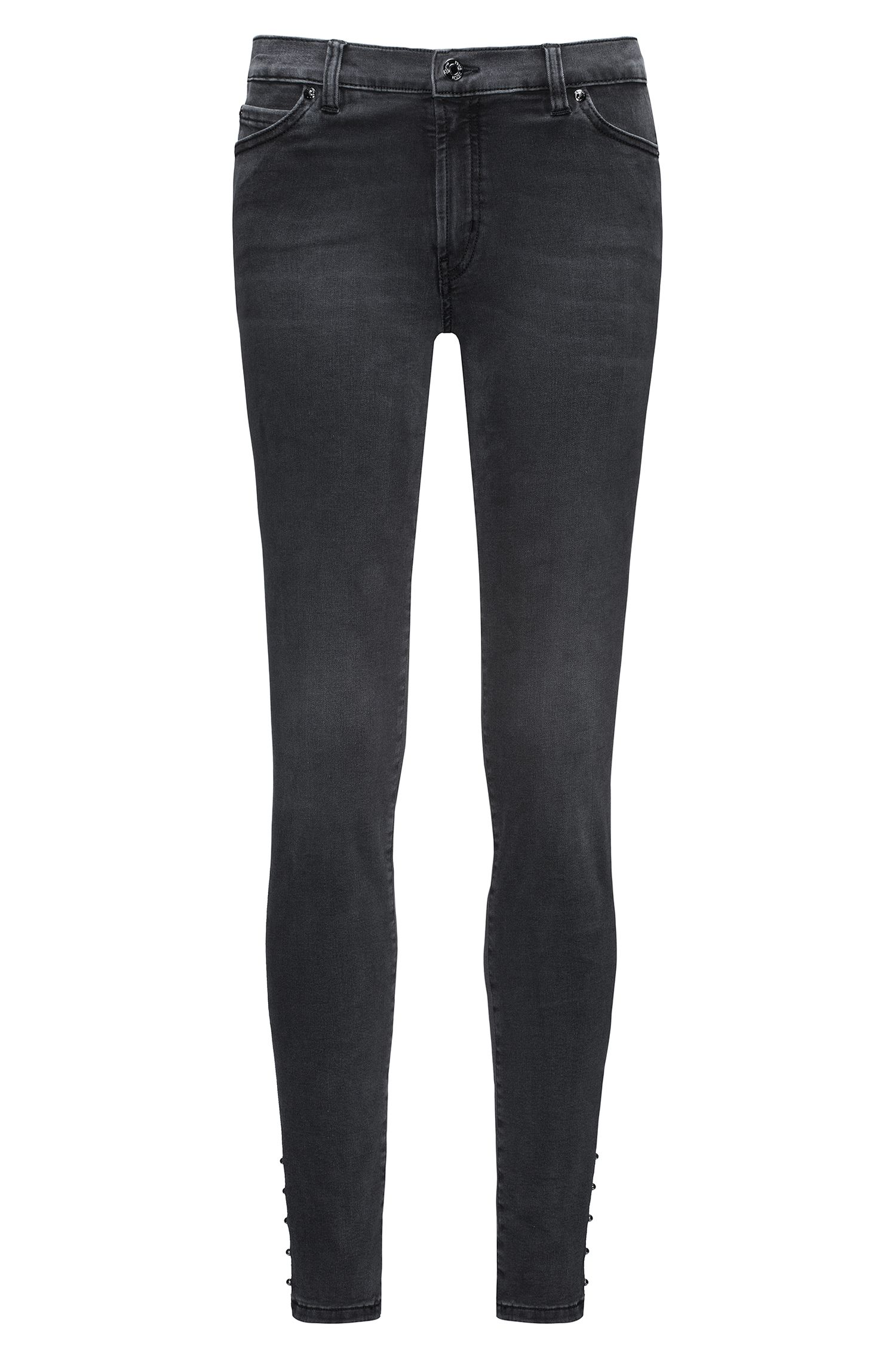 Extra Slim-Fit Jeans aus Super Stretch Denim mit Biker-Details