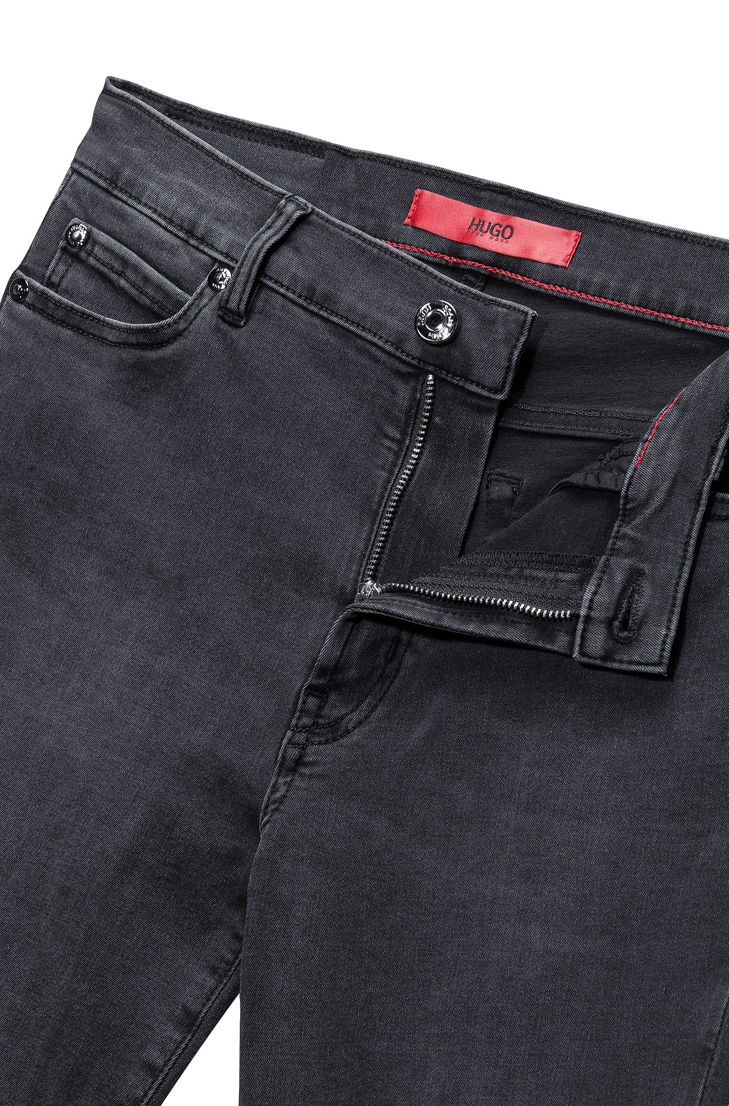 Super-stretch extra-slim-fit jeans with biker details