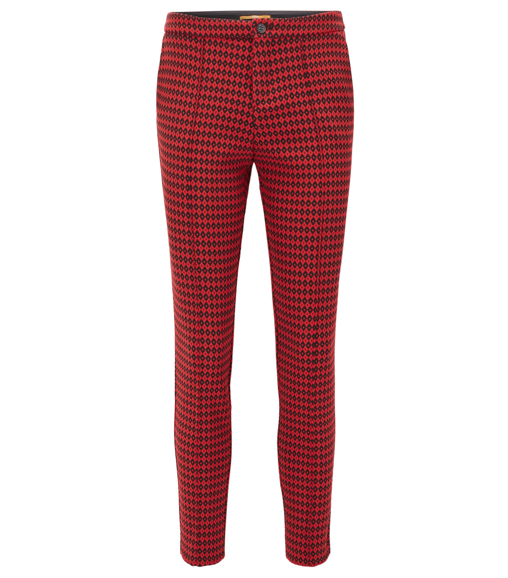 Regular-fit trousers in patterned jacquard, Patterned