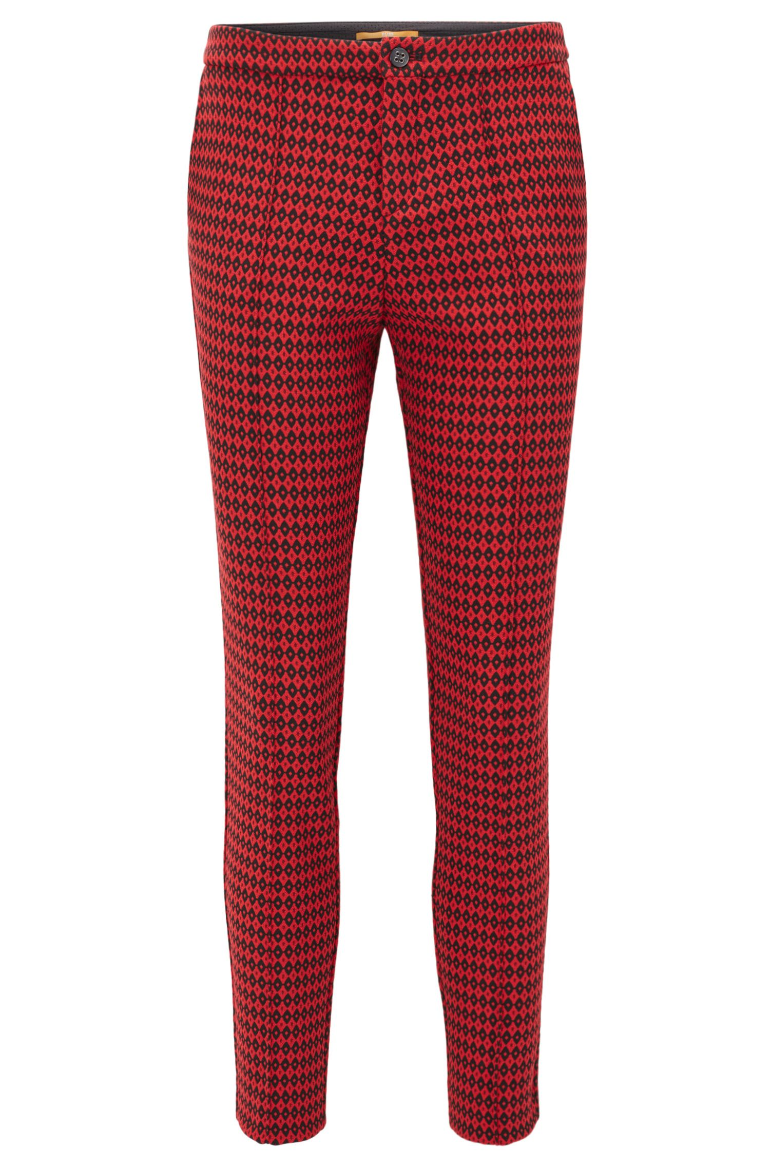 Pantalon Regular Fit en jacquard à motif