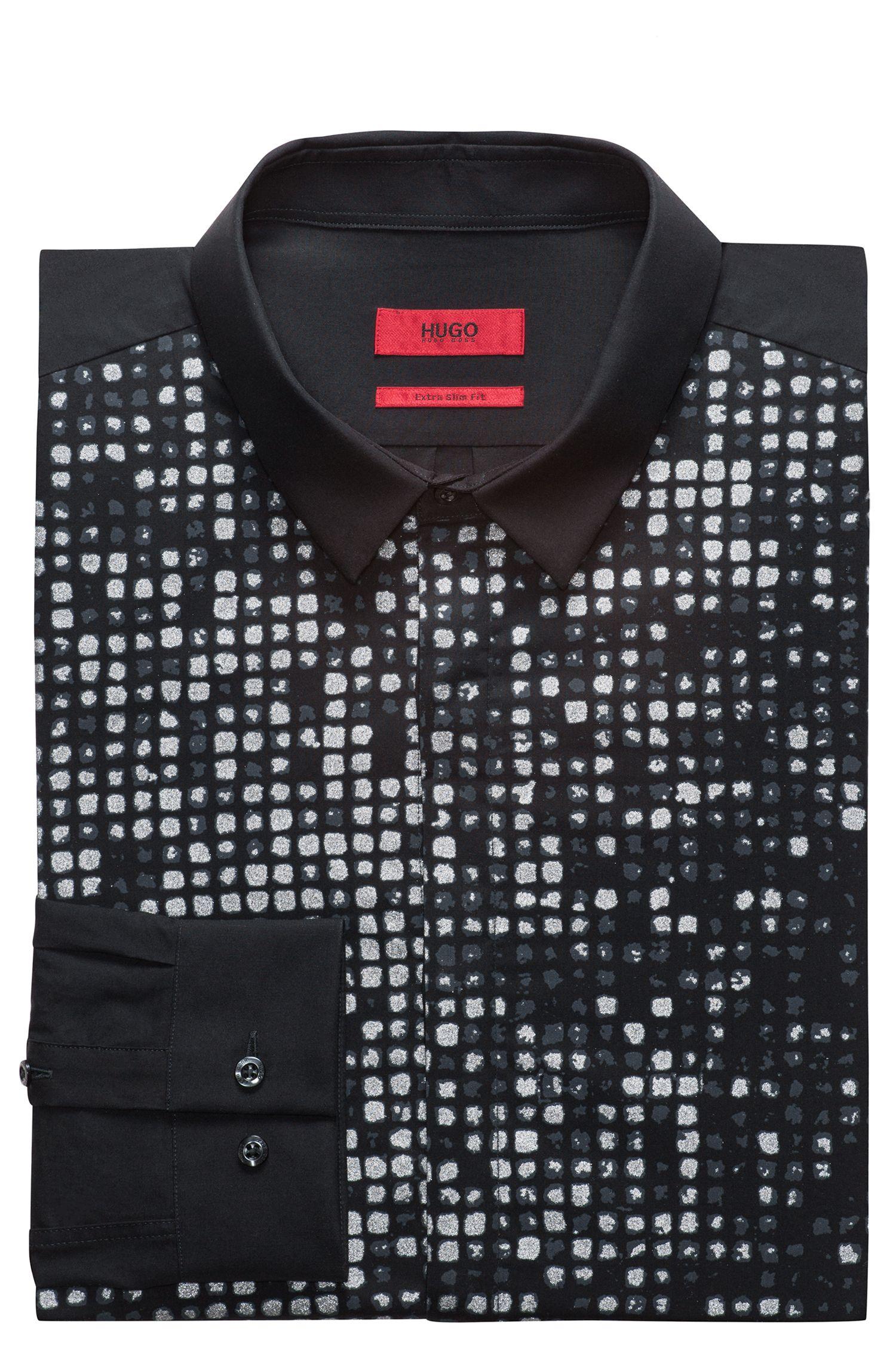 Chemise Slim Fit en coton à l'imprimé dégradé à effet brillant