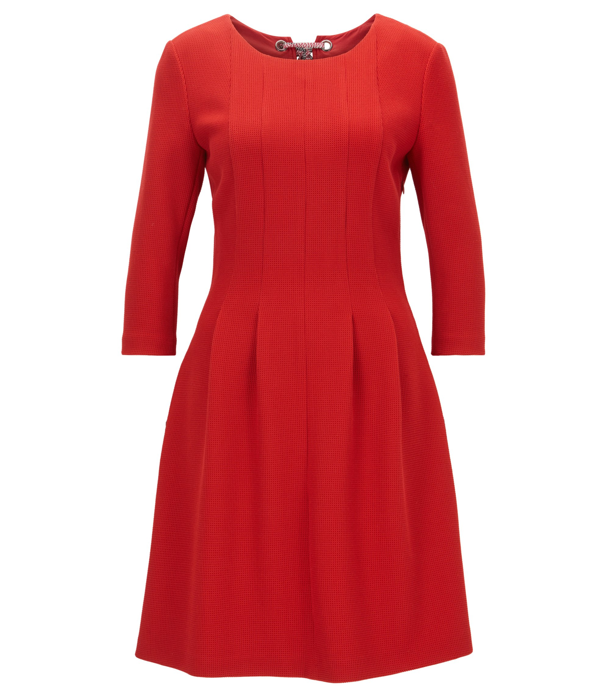 Structured dress with back bow detail, Red