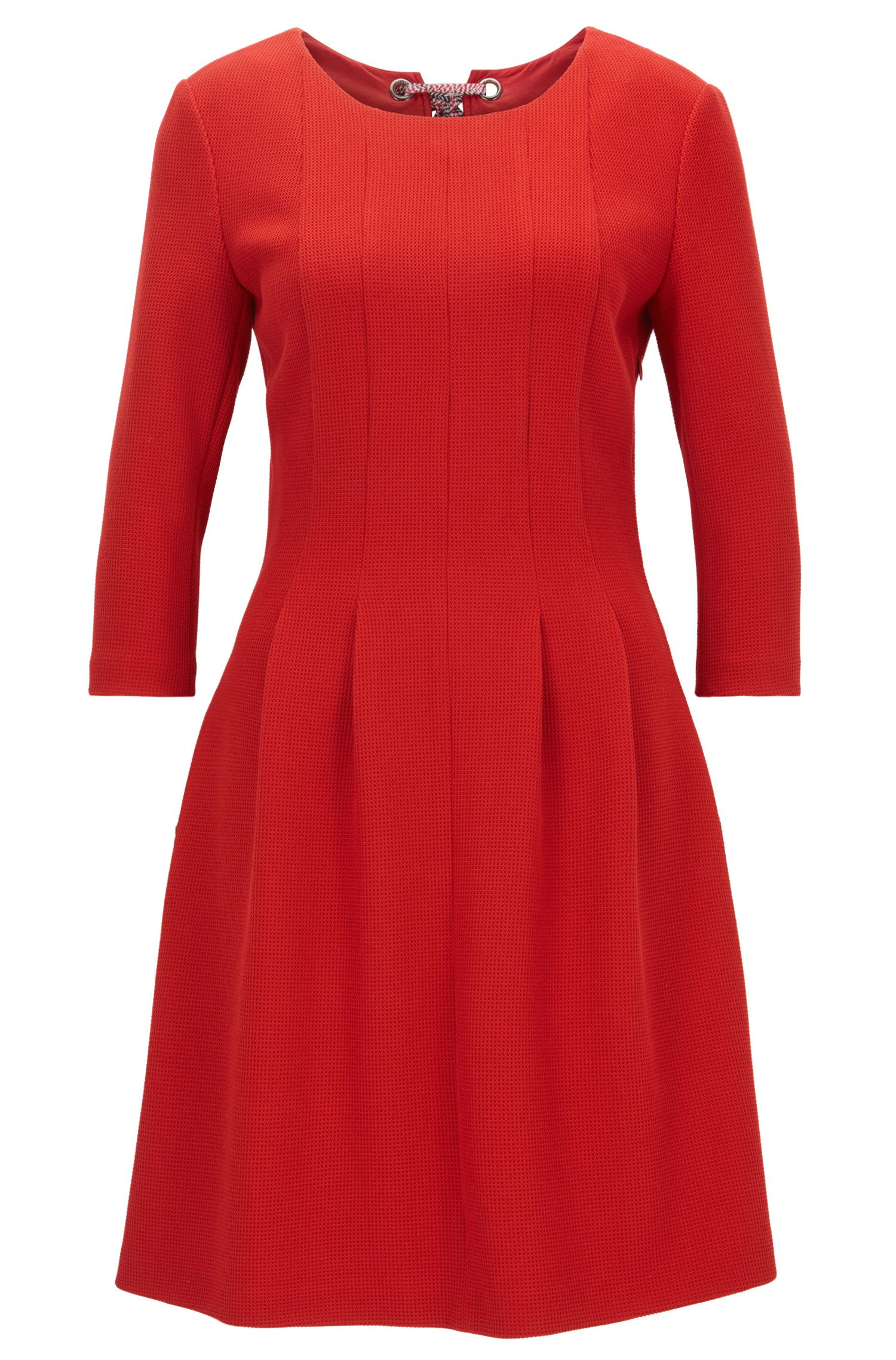 Structured dress with back bow detail